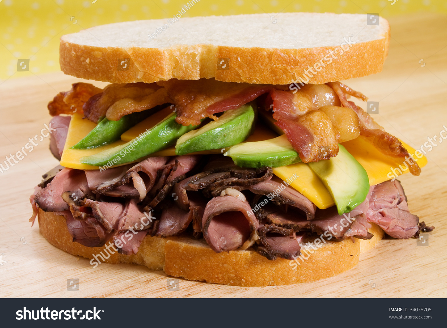 Sliced roast beef package - Roast Beef Sandwich With Cheddar Cheese Sliced Avocado And Bacon Strips