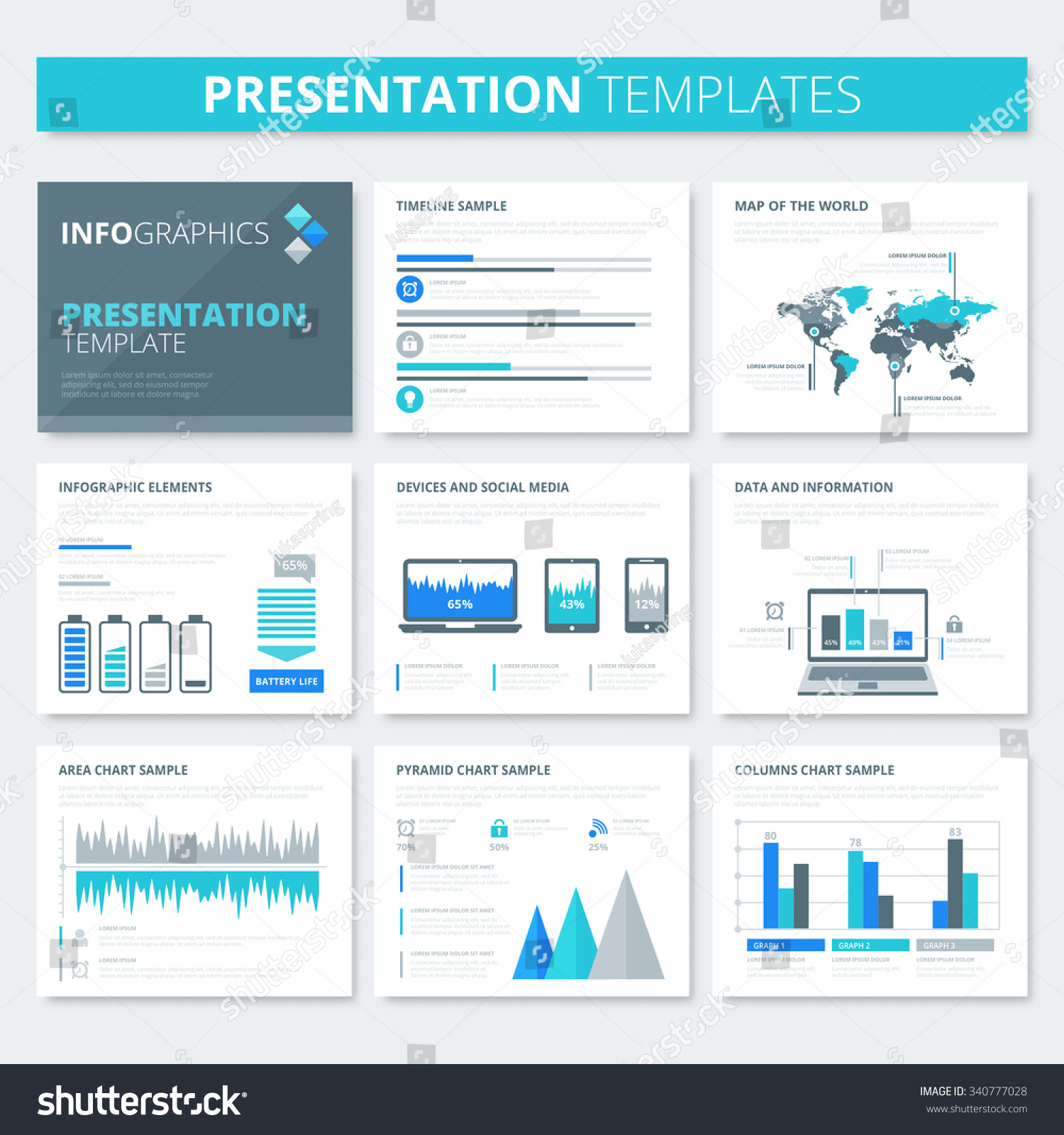 Presentation Template Infographic Elements Business Flyer Stock ...