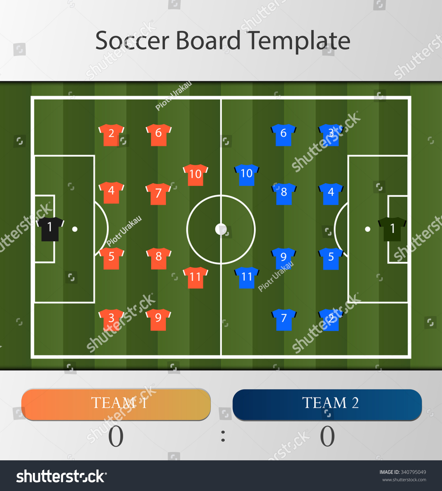Soccer football board infographic template stock vector 340795049 soccer football board infographic template pronofoot35fo Choice Image