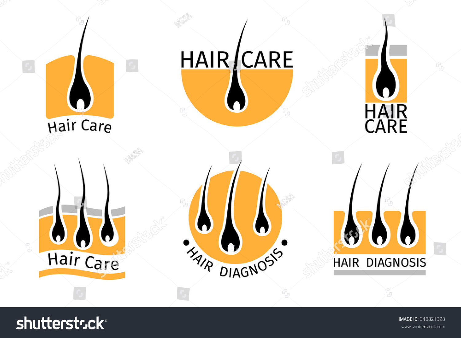 Hair Follicle Diagnostics Logos Set Anatomy Stock Vector 340821398 ...