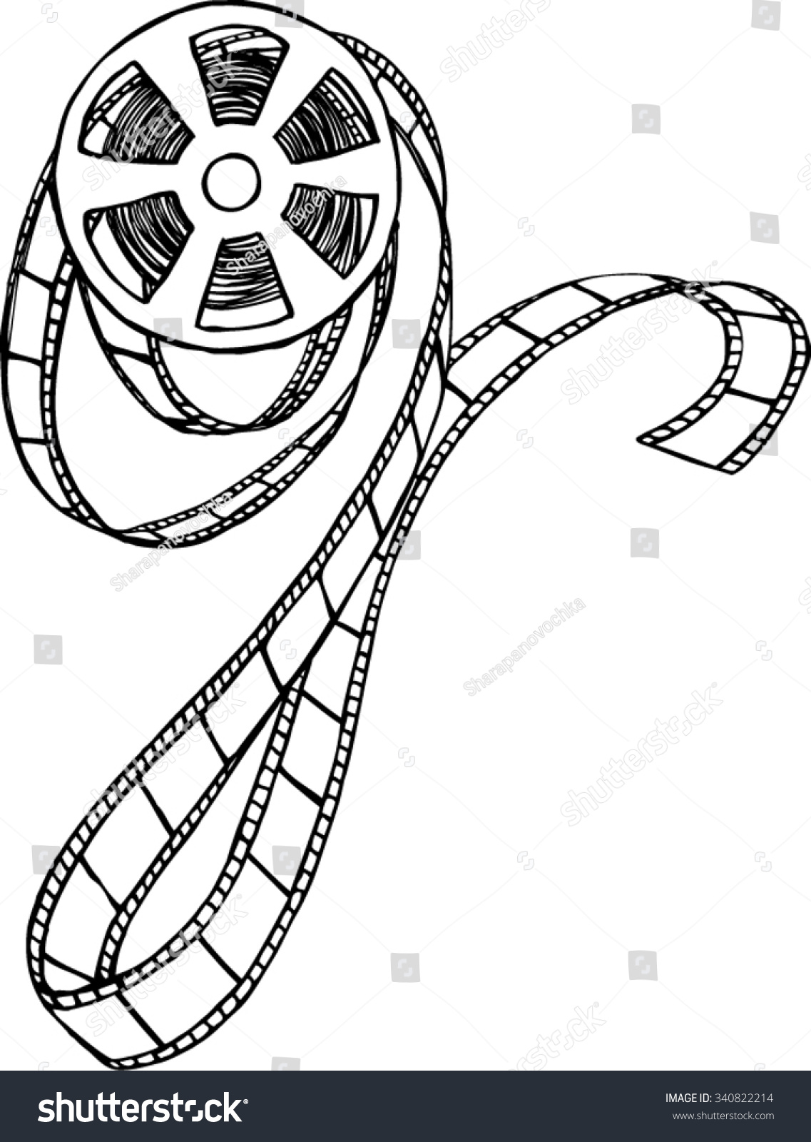 Movie Reel Clipart Black And White