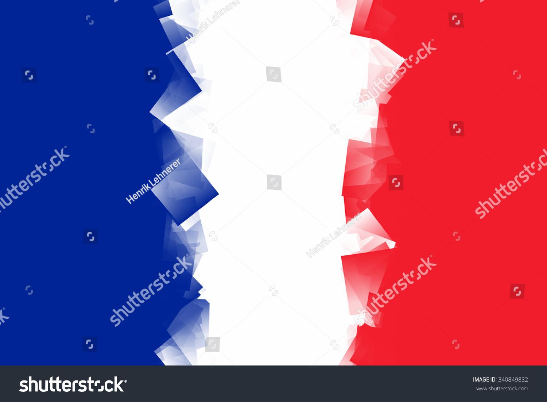 france flag color blue white red stock illustration 340849832
