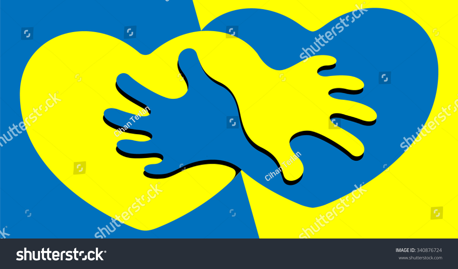 Yellow blue hearts passion abstract symbol stock vector 340876724 an abstract symbol for anti racism figuring two hearts biocorpaavc Images