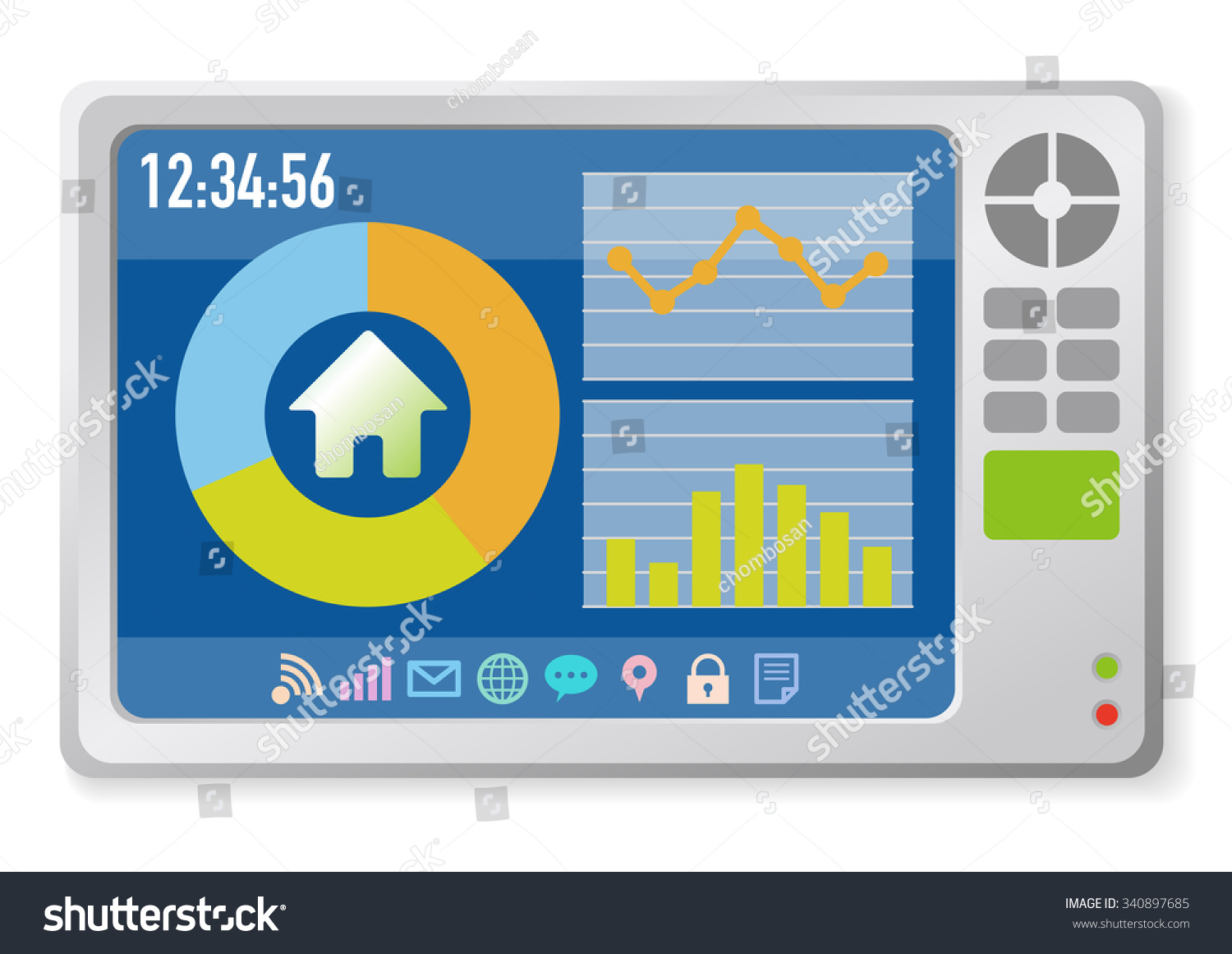 Home Display Smart Home Monitor Smart Stock Vector 340897685 ...
