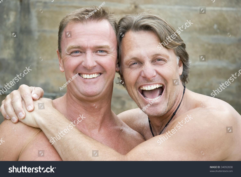 stock photo gay men laughing homosexual