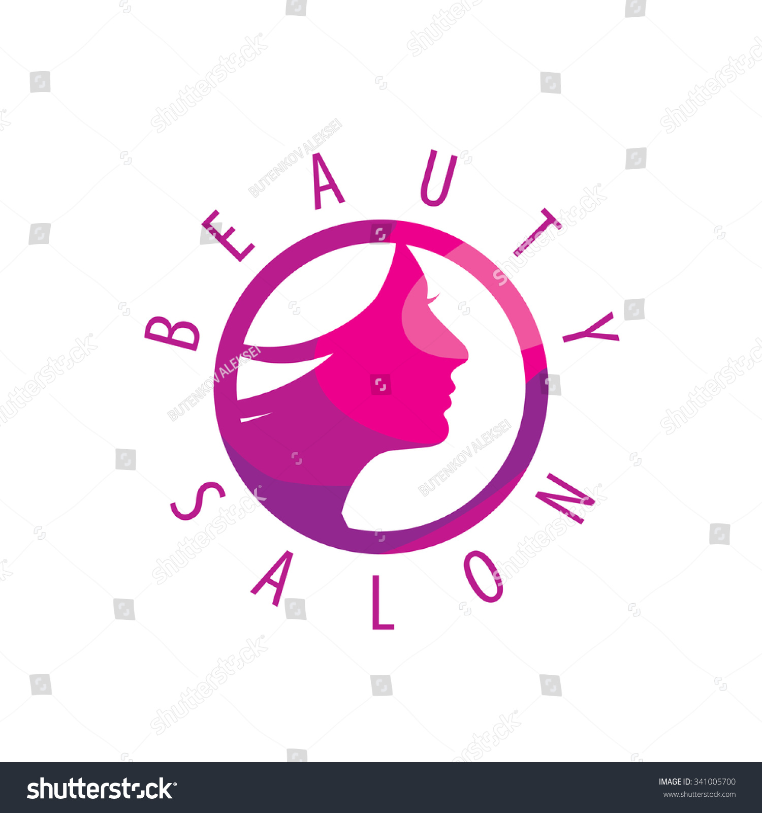 beauty female face logo designcosmetic salon logo design