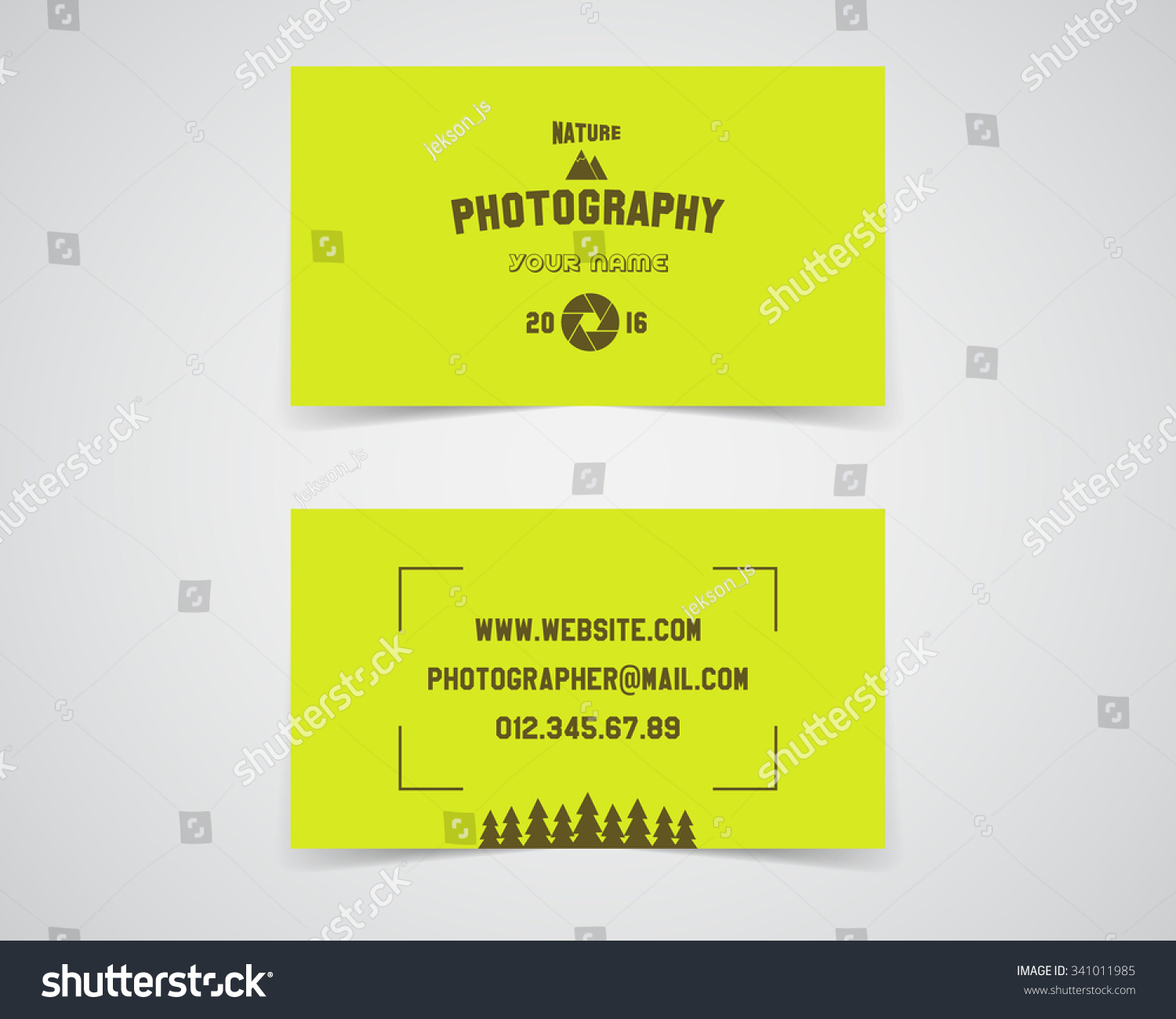 Modern light business card template nature stock vector 2018 modern light business card template for nature photography studio unusual design corporate brand identity reheart Image collections