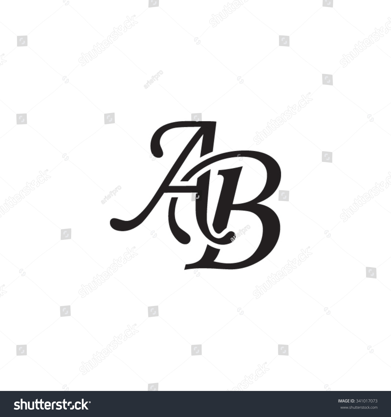 Royalty Free Ab Initial Monogram Logo 341017073 Stock