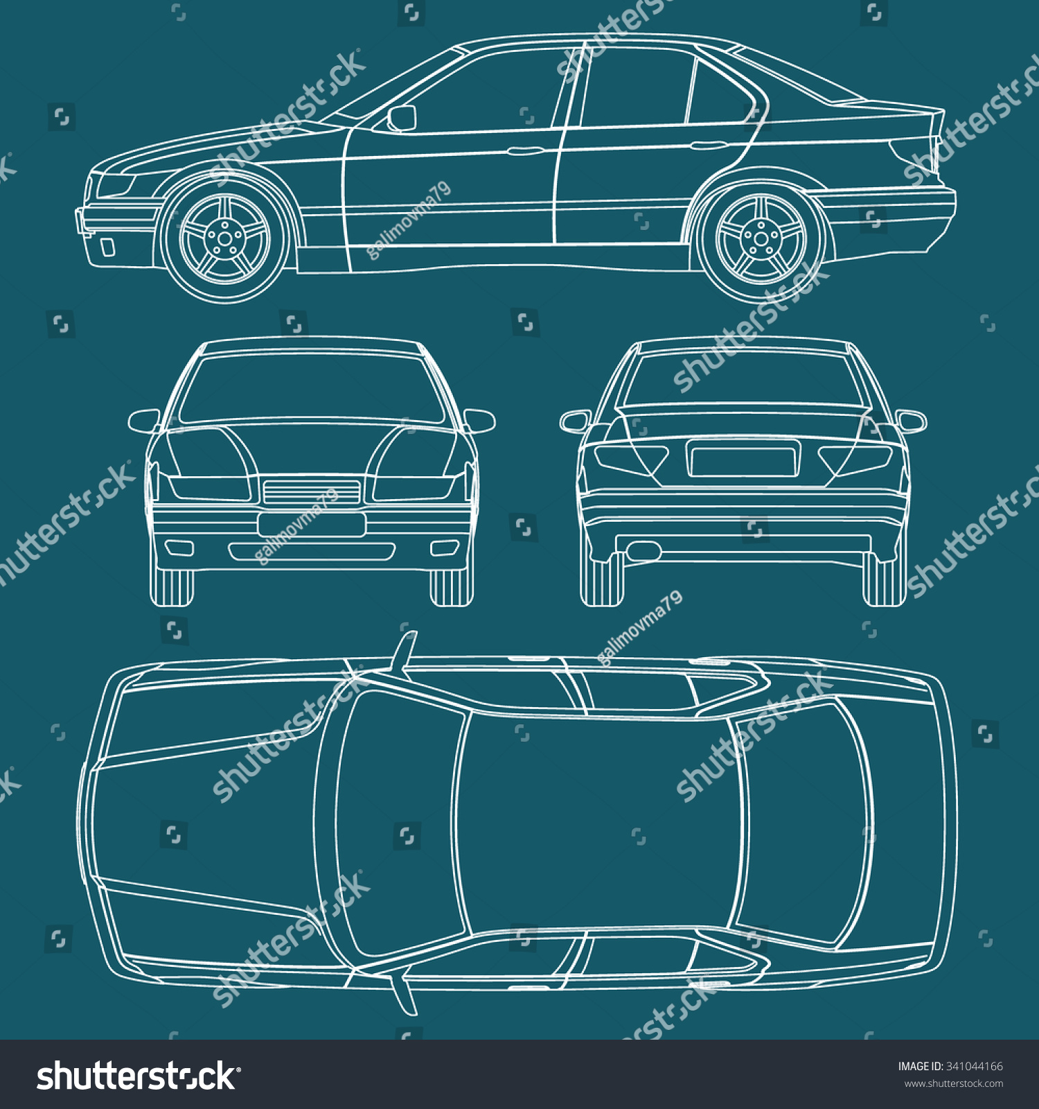 Car line draw blueprint condition report vectores en stock 341044166 car line draw blueprint condition report form vector malvernweather Gallery