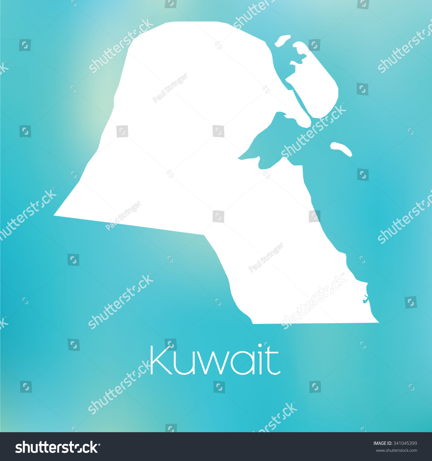 Map Country Kuwait Stock Vector (Royalty Free) 341045399 - Shutterstock