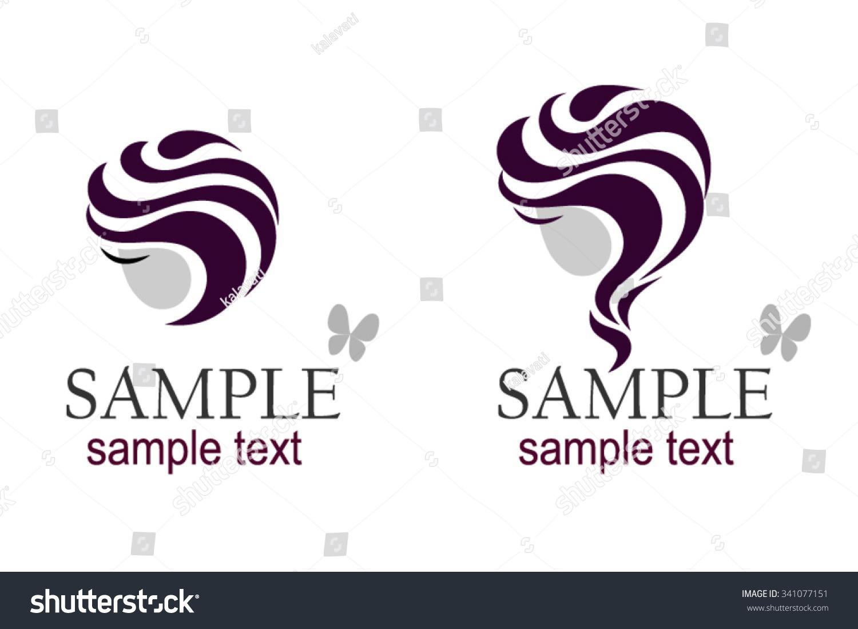 symbol head symbol hairstyles vector logo stock vector (royalty free