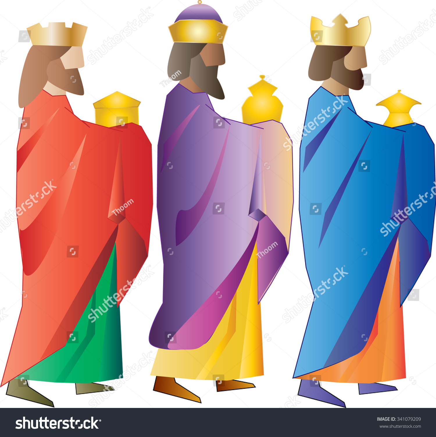 three kings three wise men christmas stock vector hd royalty free rh shutterstock com