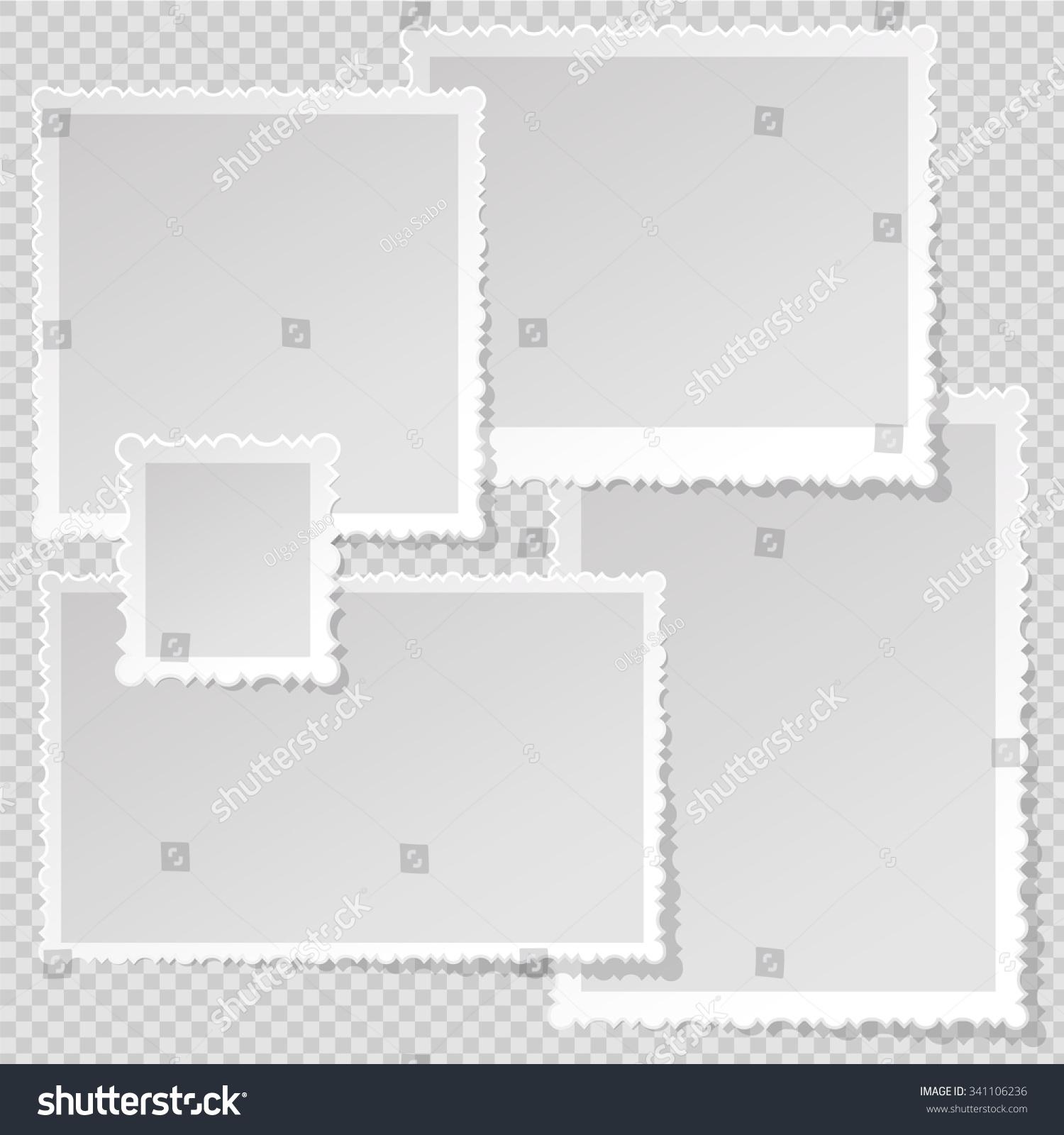 Photo Frame Template Sharp Transparent Shadow Stock Photo (Photo ...