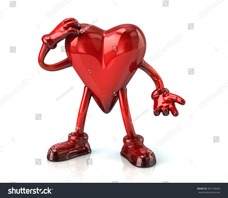 Symbol thinking red cartoon heart stock illustration 341140283 symbol of thinking red cartoon heart biocorpaavc
