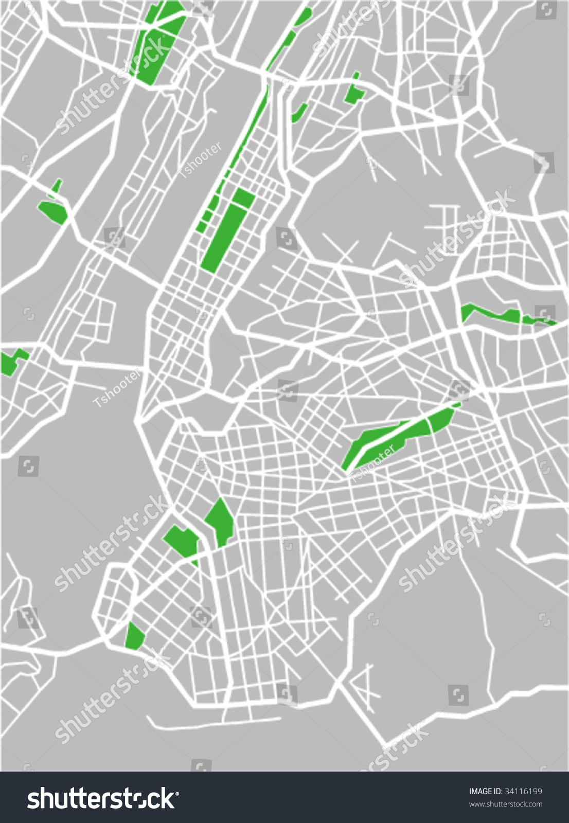 Vector Map Of New York  34116199  Shutterstock