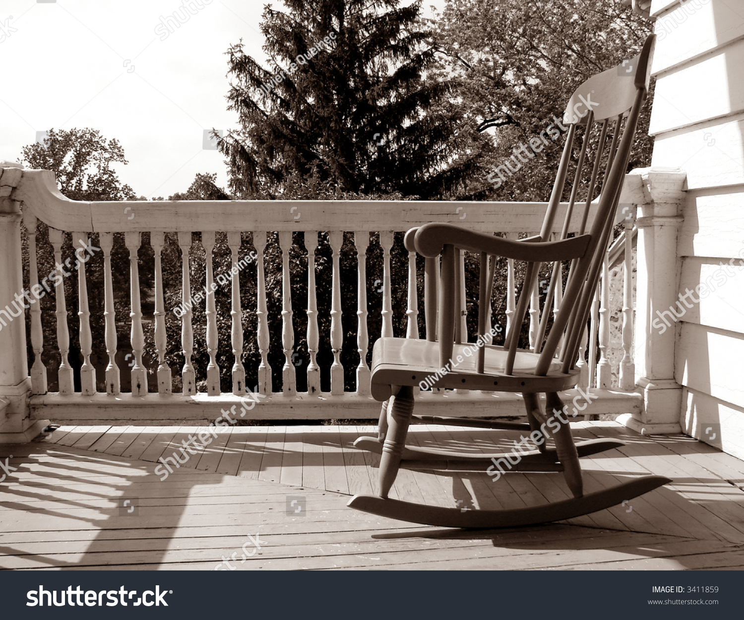 Adirondack chairs on beach sepia - Rocking Chair On An Old House Porch In Nostalgic Sepia