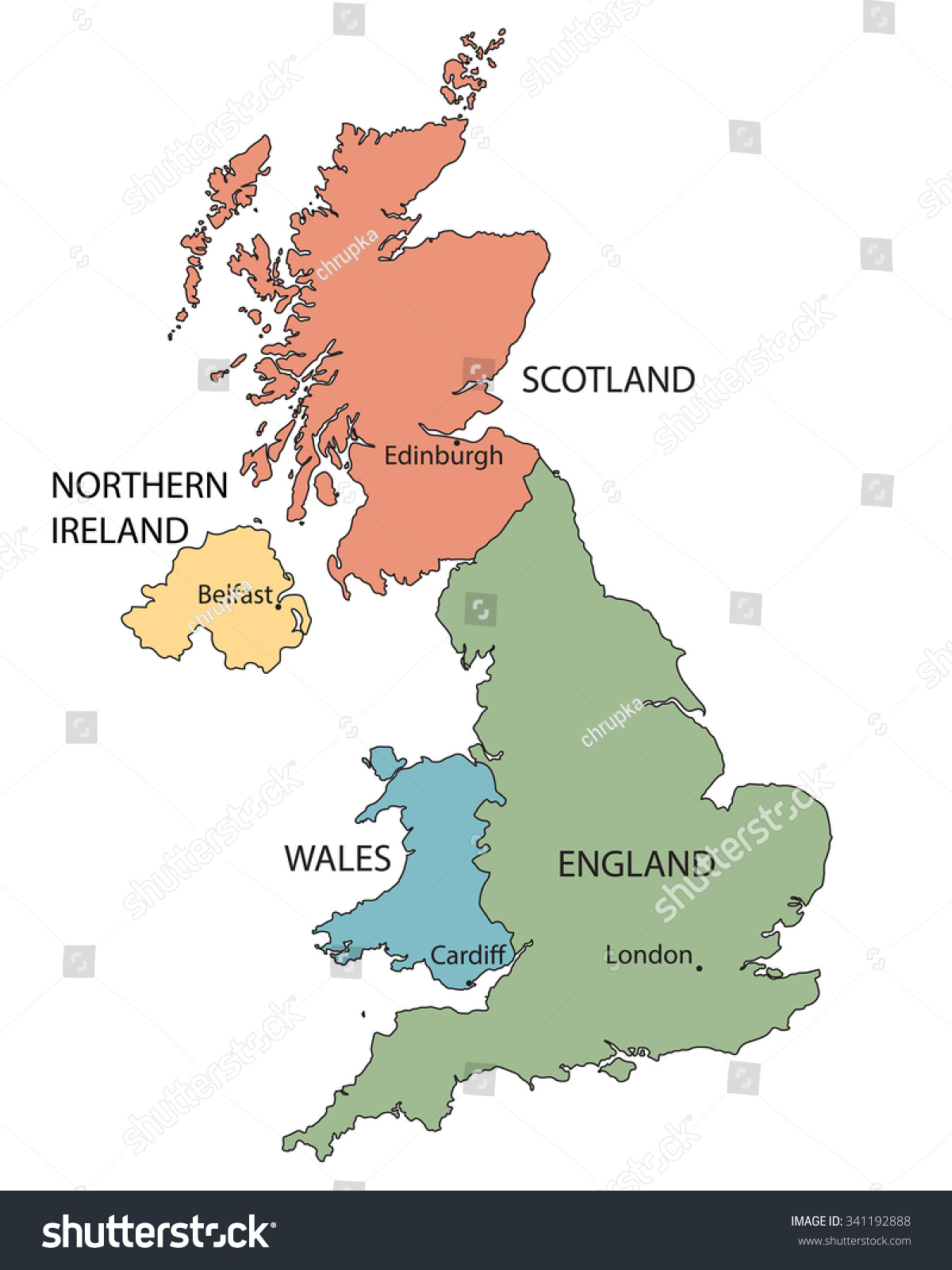 Colorful map countries united kingdom indication vector de colorful map countries united kingdom indication vector de stock341192888 shutterstock gumiabroncs Image collections