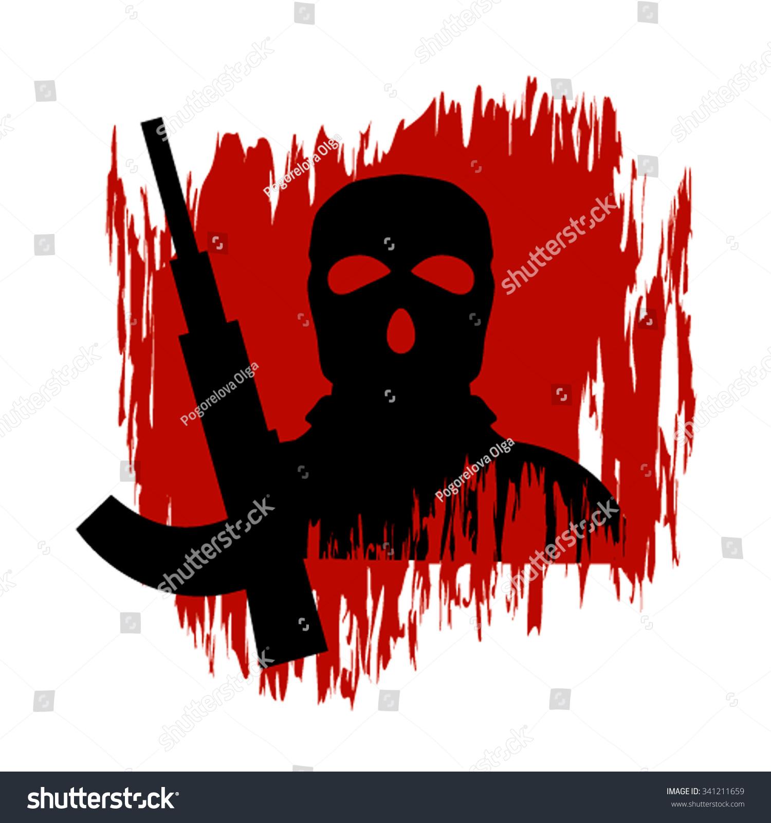 vector illustration on theme war terrorism stock vector royalty