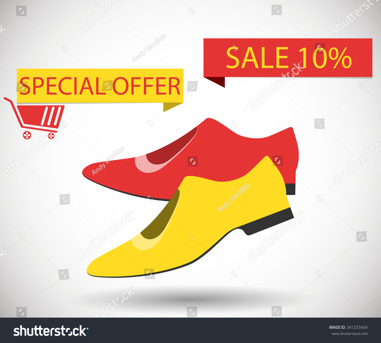 c24633c448ebc9 Sale Shoes Discount 10 Percent Special Stock Vector (Royalty Free ...