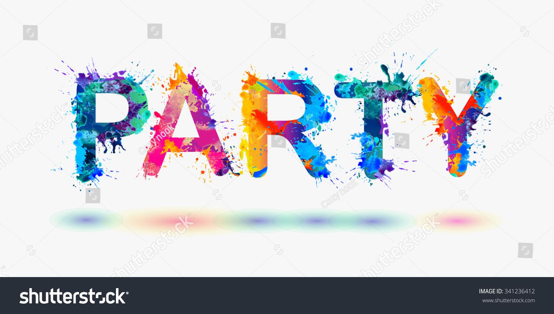 word party rainbow splash paint stock vector 341236412 shutterstock vector peace sign hands vector peace sign fingers