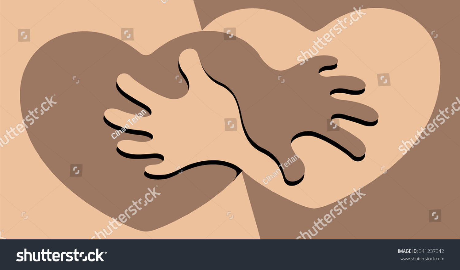 Anti racist abstract symbol anti racism stock vector 341237342 anti racist an abstract symbol for anti racism featuring two hearts holding each other biocorpaavc Images