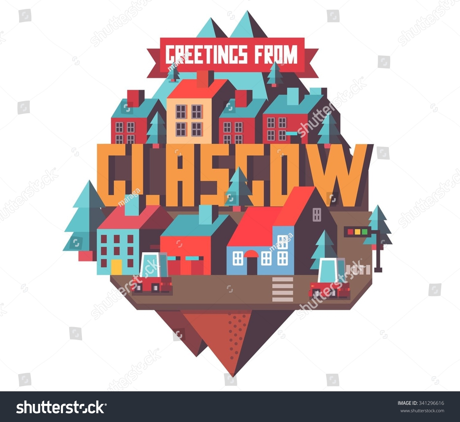 Glasgow Uk Beautiful City Visit On Stock Vector Royalty Free