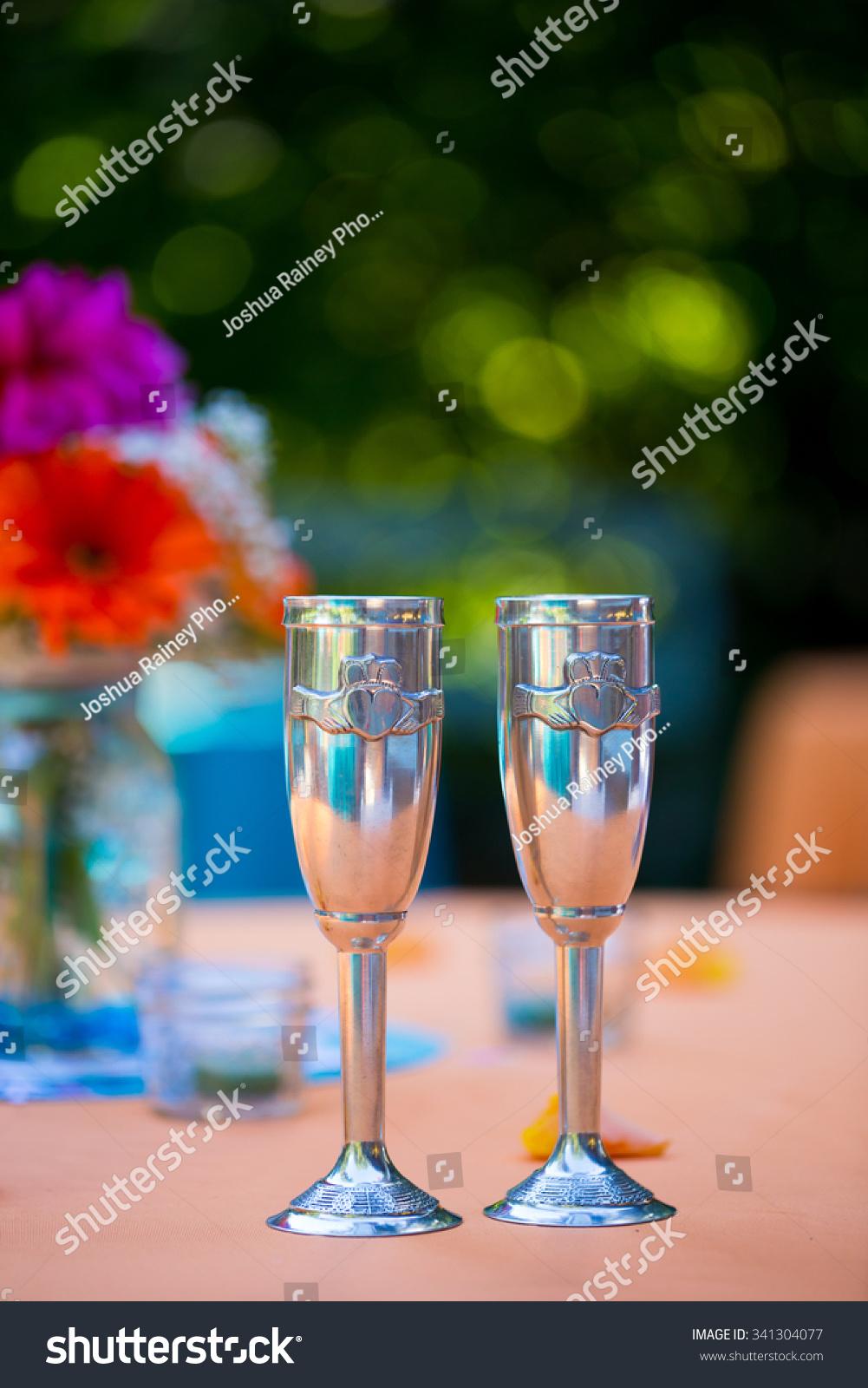 Bride Groom His Hers Cups Wedding Stock Photo Edit Now 341304077