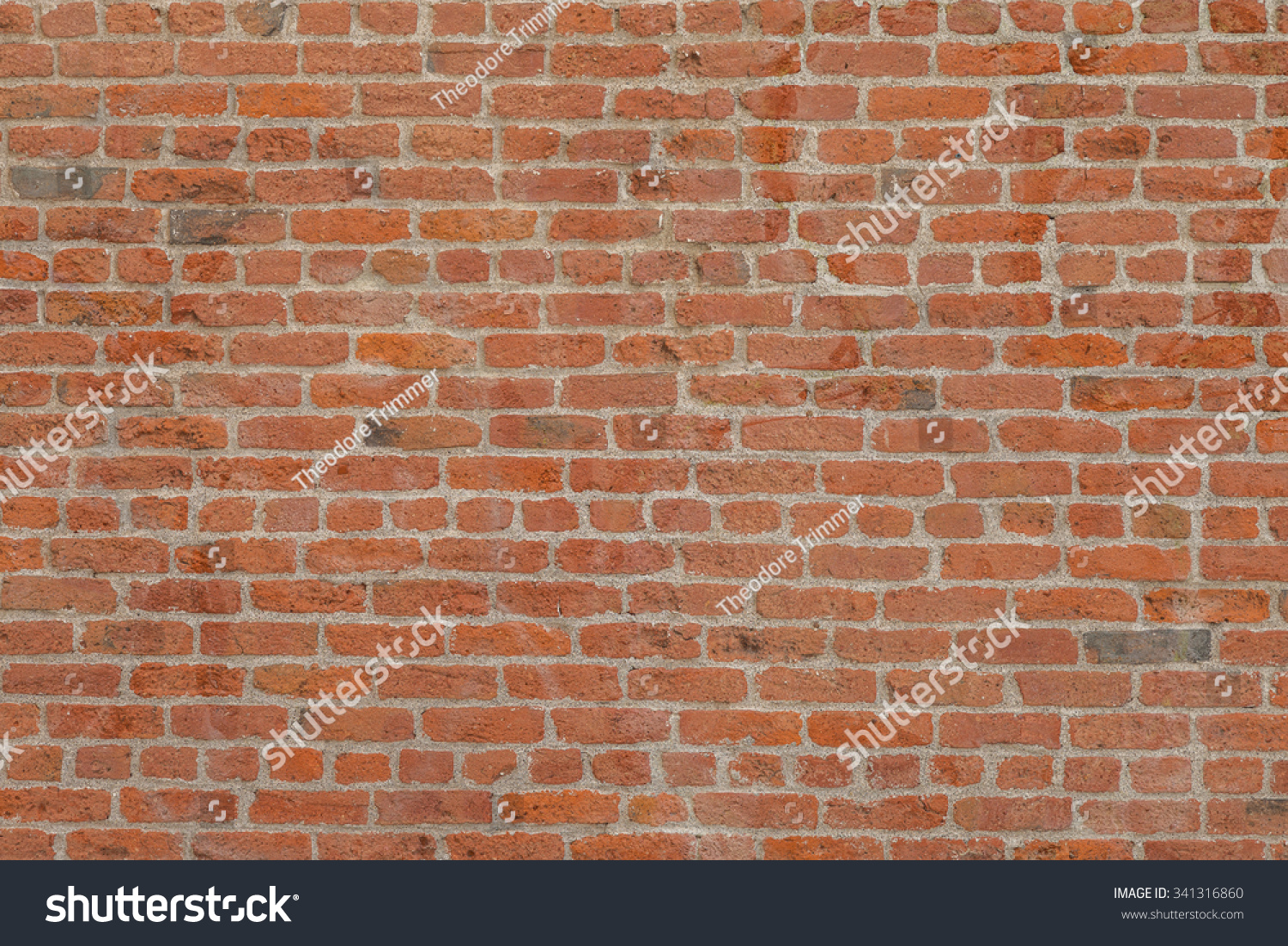 Vintage red brick exterior wall with white mortar cement for Uses for a brick