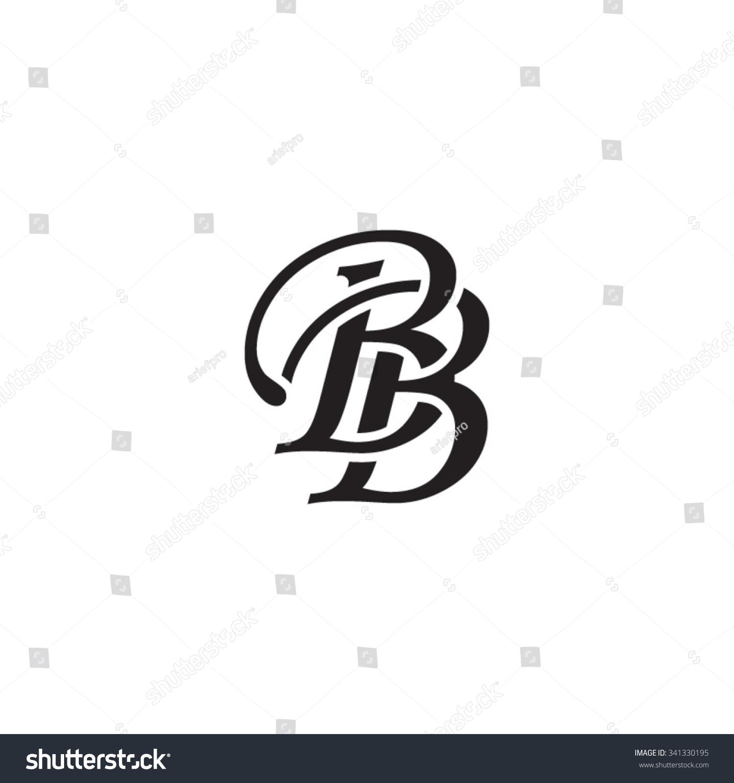 Bb initial monogram logo stock vector illustration for Bb logo