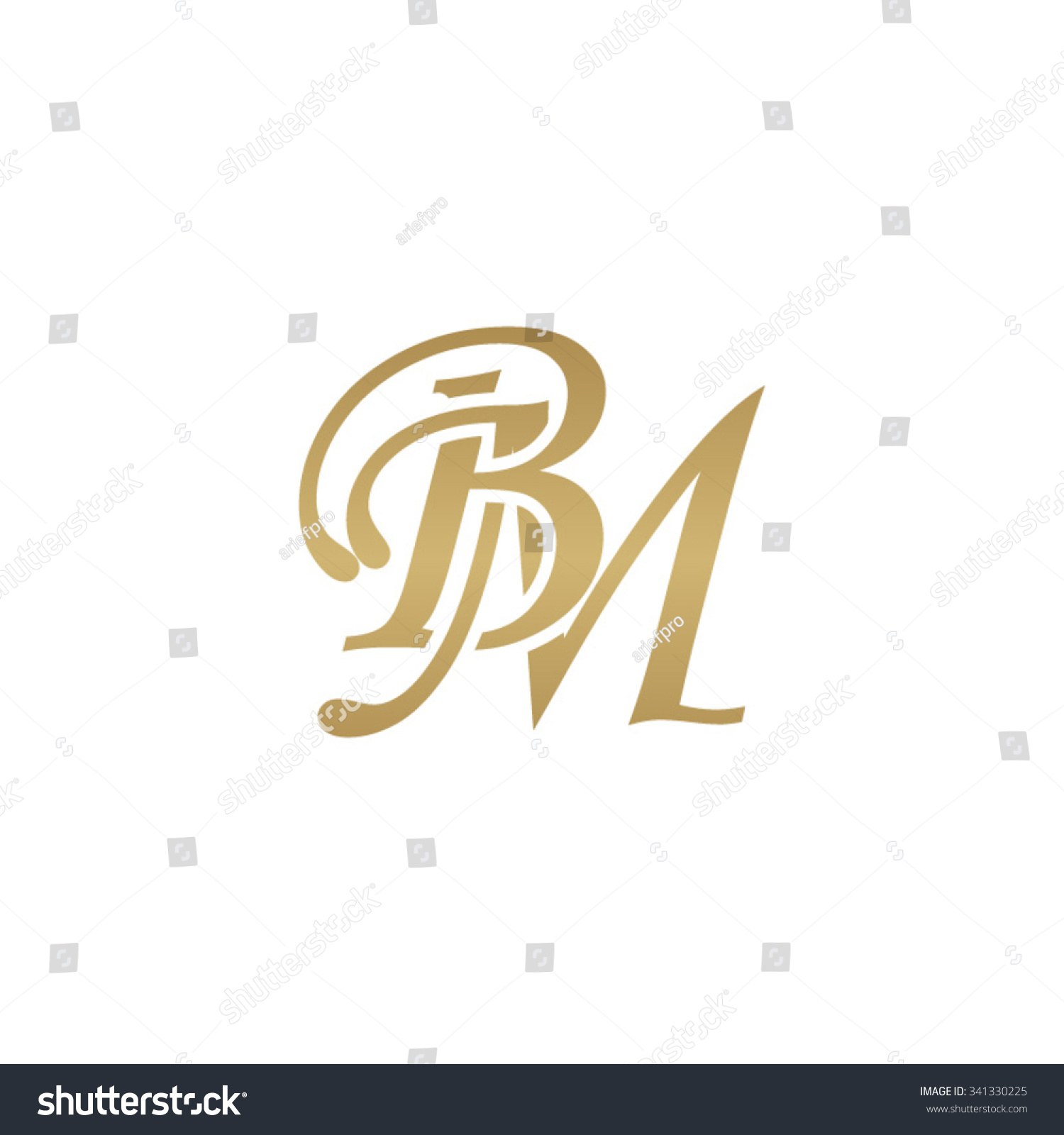 bm initial monogram logo stock vector royalty free 341330225