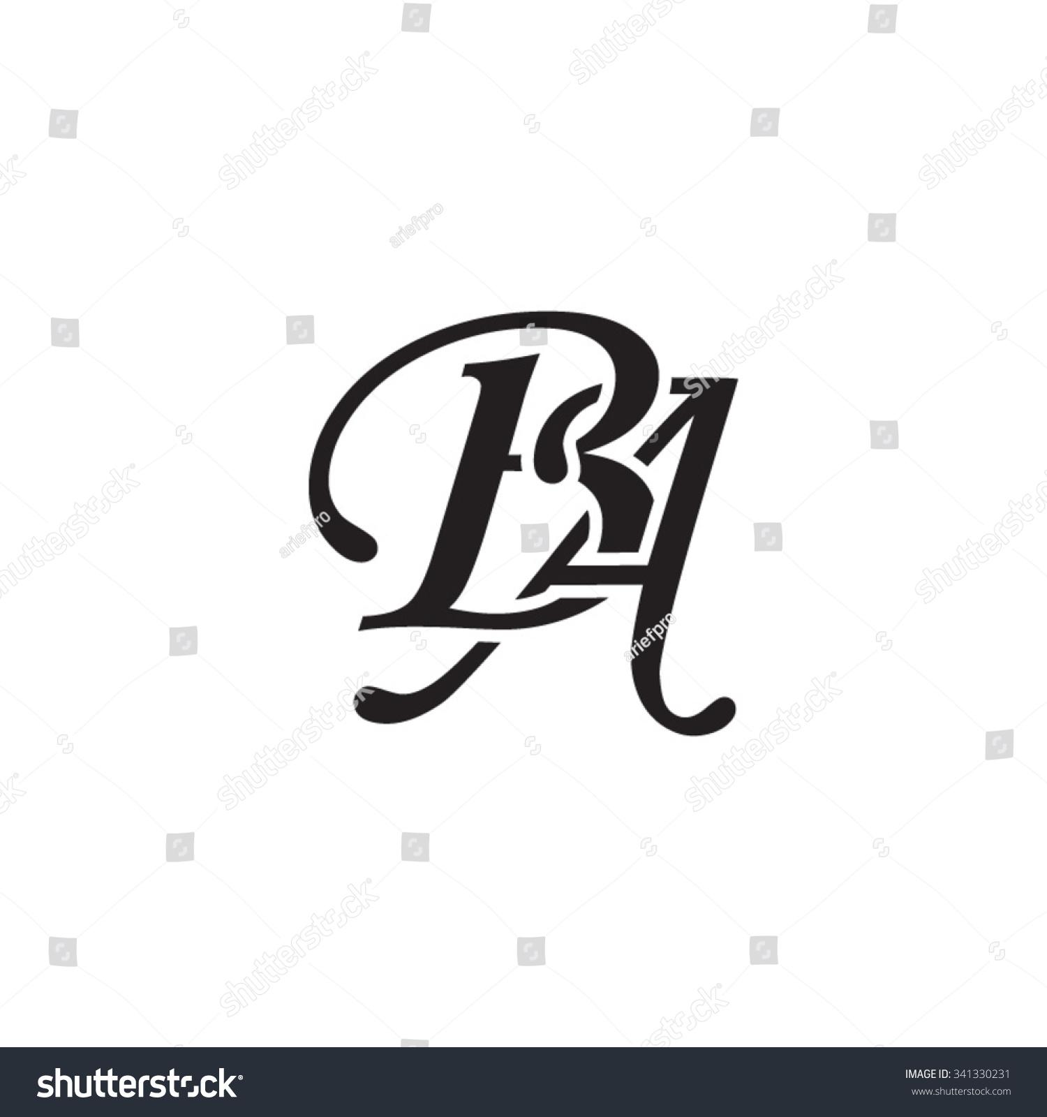 ba initial monogram logo stock vector royalty free 341330231