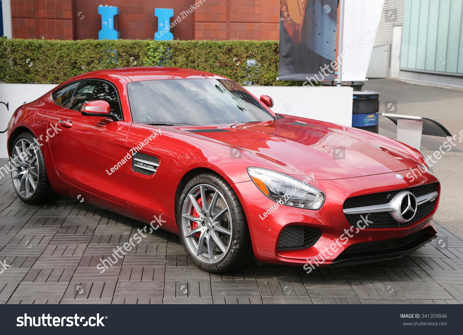 New york september 12 2015 mercedes benz amg gt s on for Mercedes benz us open