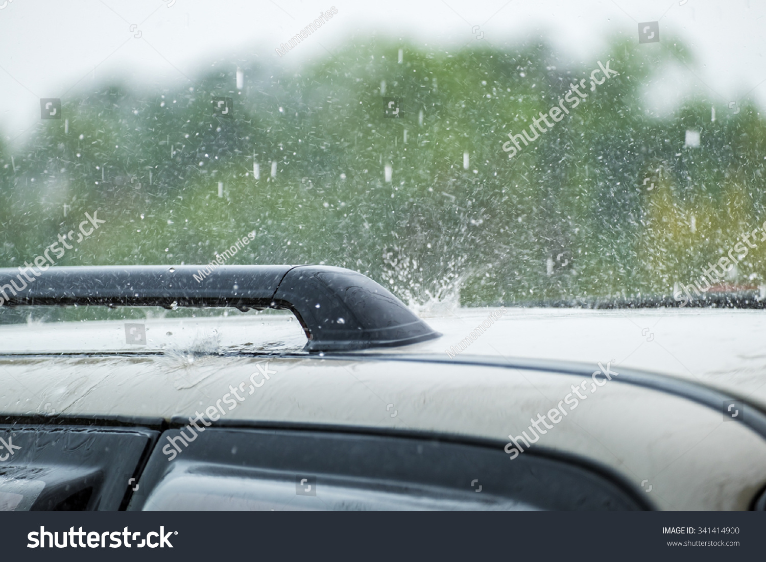 Raindrop Fall On Roof Car Stock Photo 341414900 Shutterstock