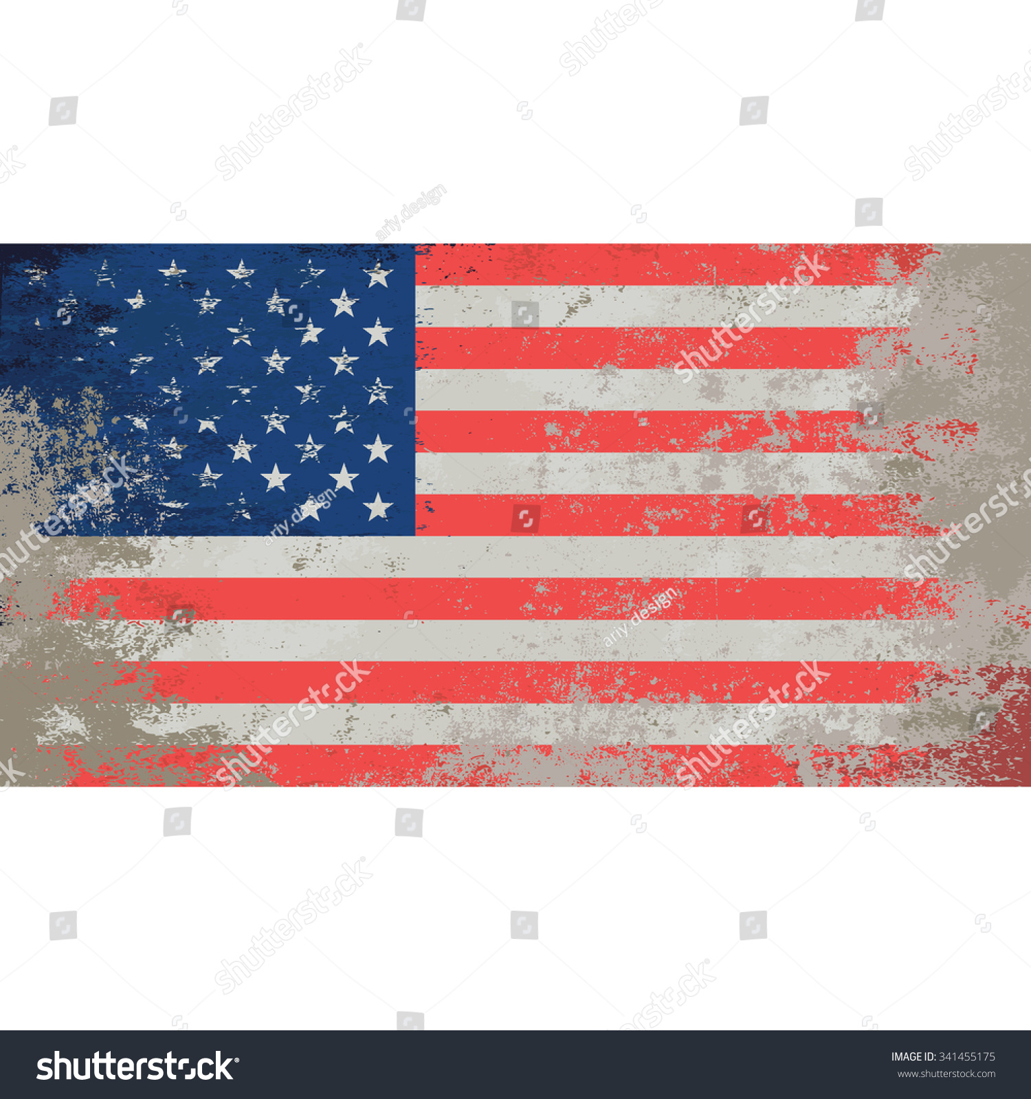 Grunge Styled Flag Of Usa National Flag Of America Equal
