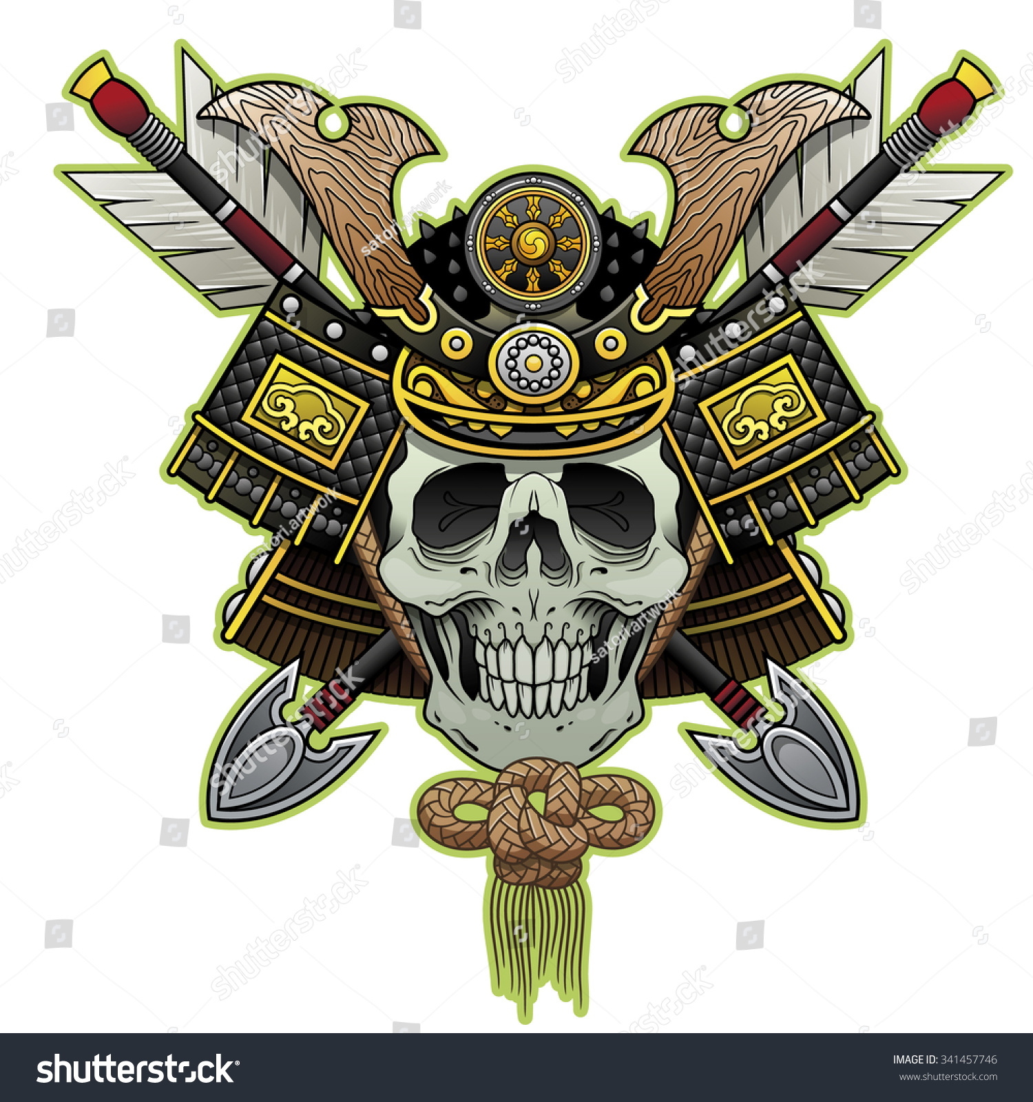 Samurai skull color