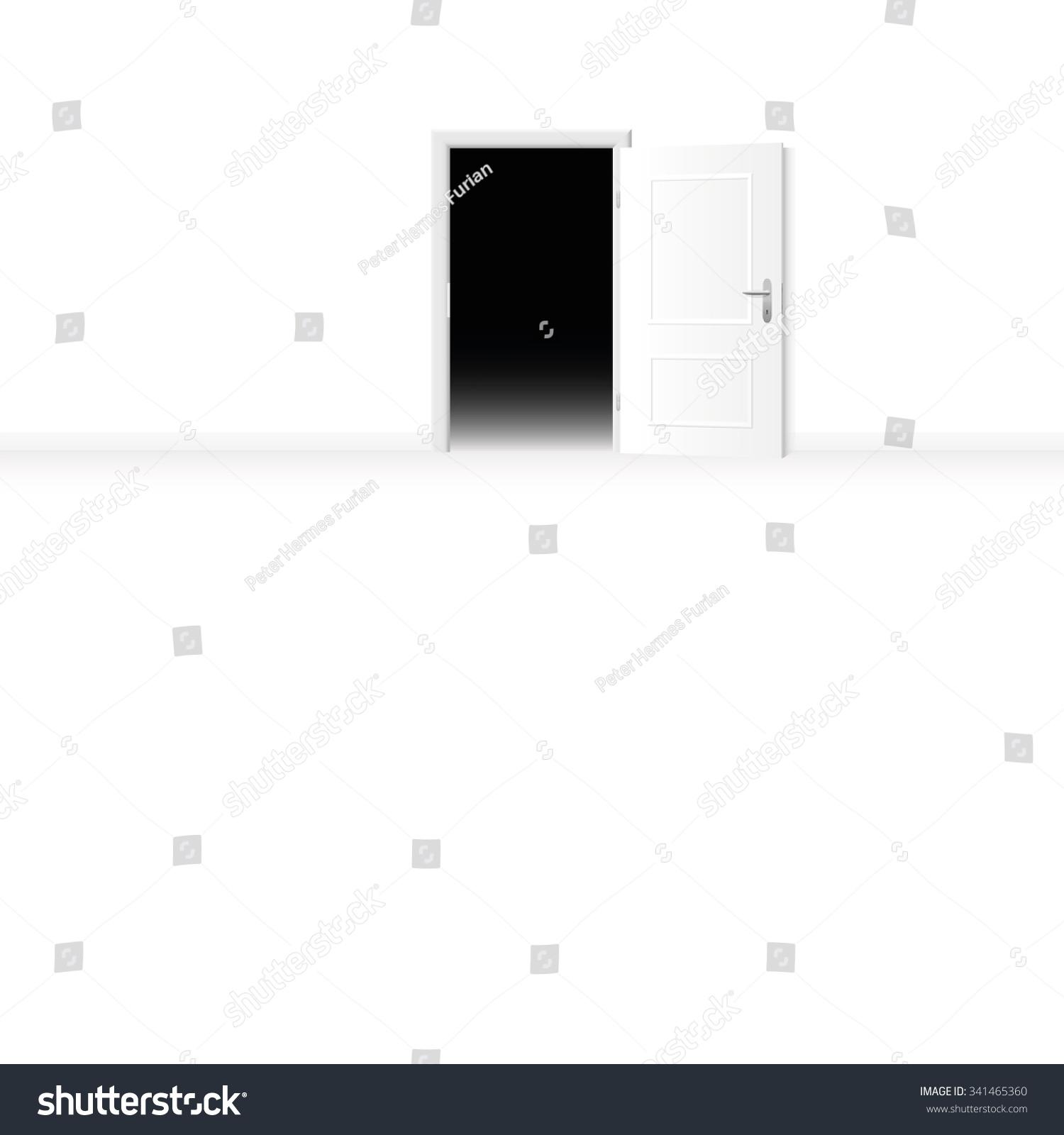 Open Door Dark Room open door bright room dark room stock vector 341465360 - shutterstock