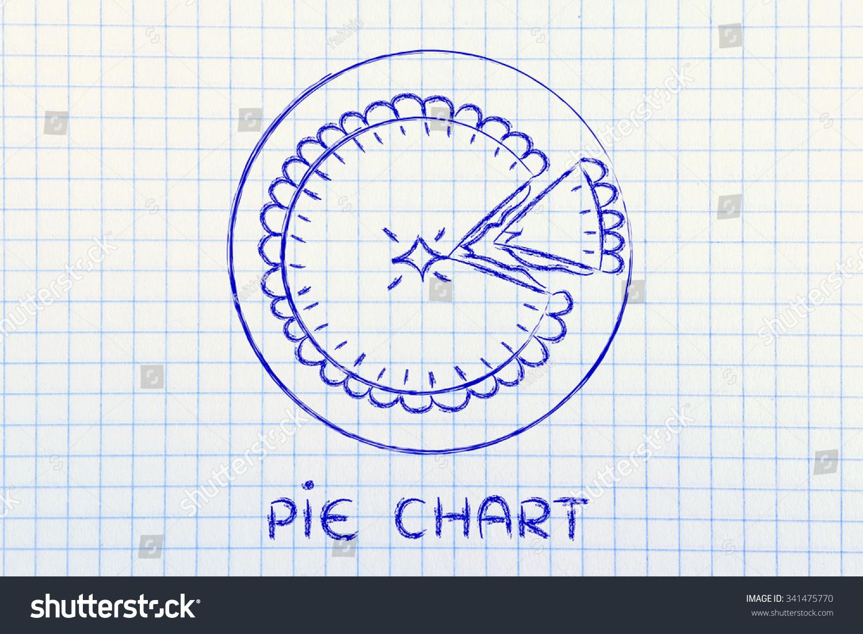 Funny Pie Illustration Slice Cut Off Stock Illustration 341475770