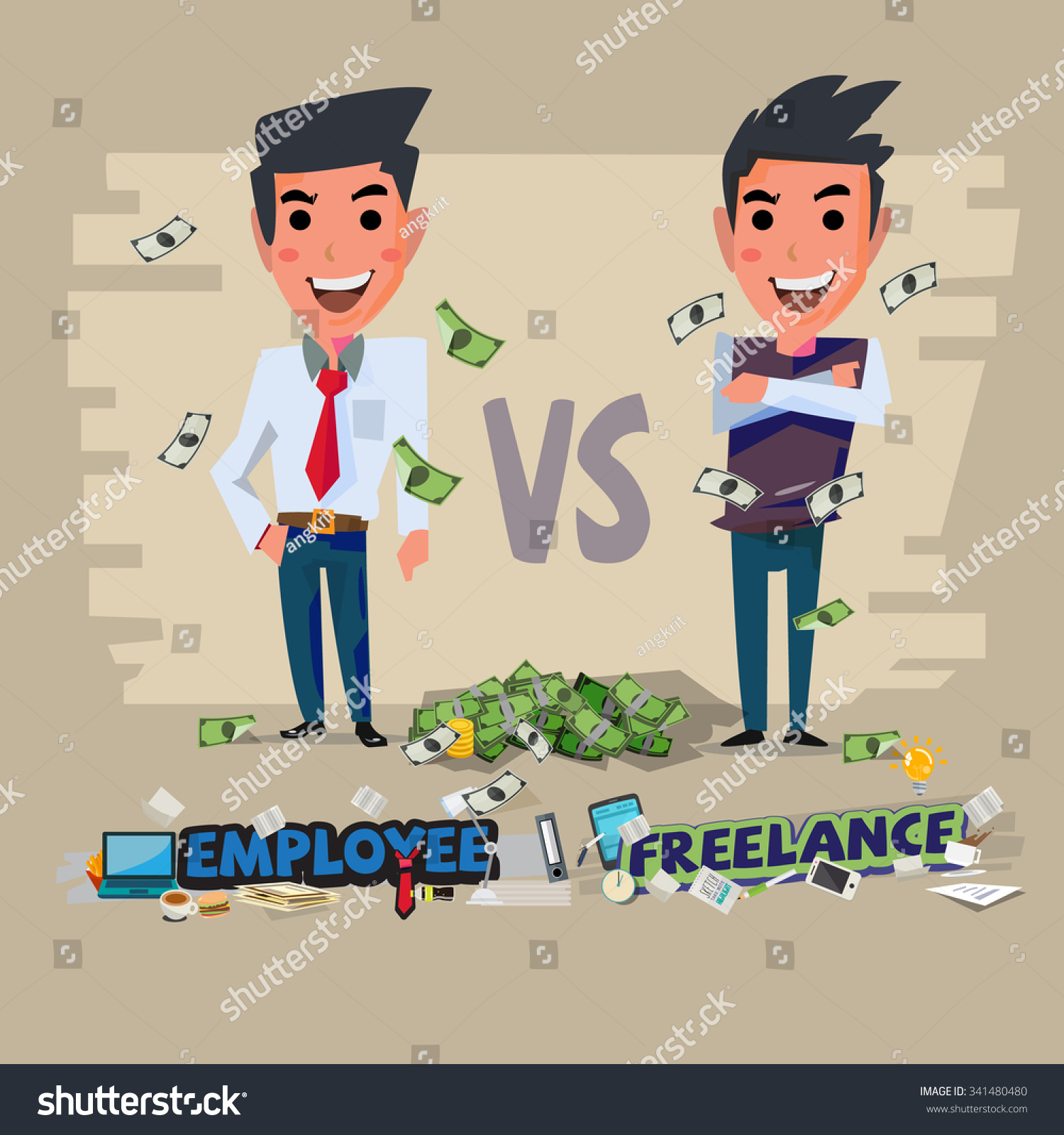 Illustrator Character Design Freelance : Employee freelance character design freelancing vs stock