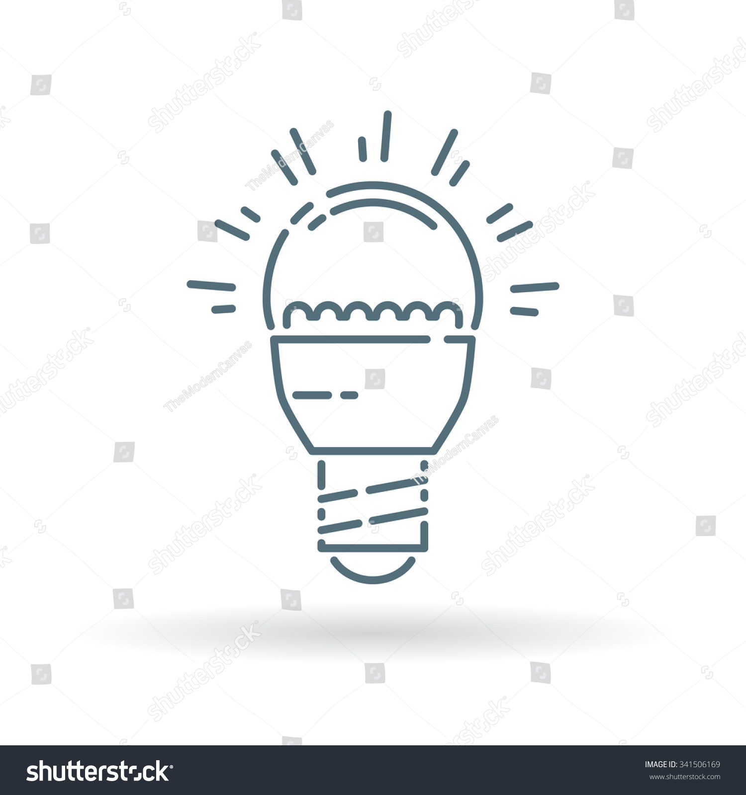 LED Light Bulb Icon Efficient Low Stock Vector 341506169 - Shutterstock
