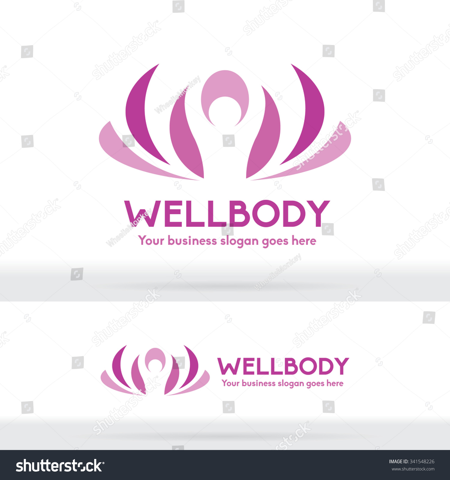 Well Body Fitness Logo Cosmetic Brand Identity For Spa Product And Beauty Salon Business