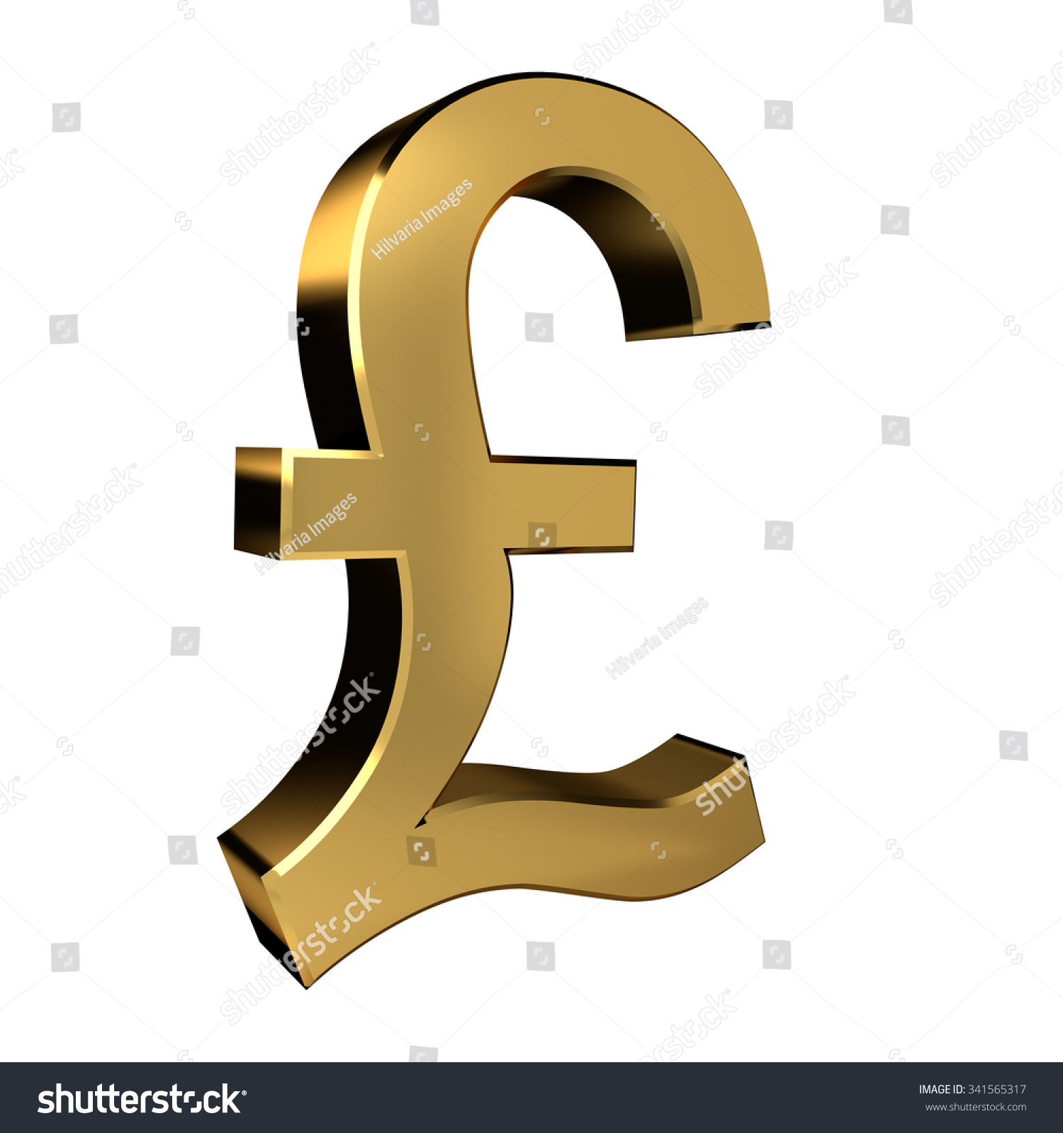 Gold Colored Pound Symbol Stock Illustration 341565317 Shutterstock