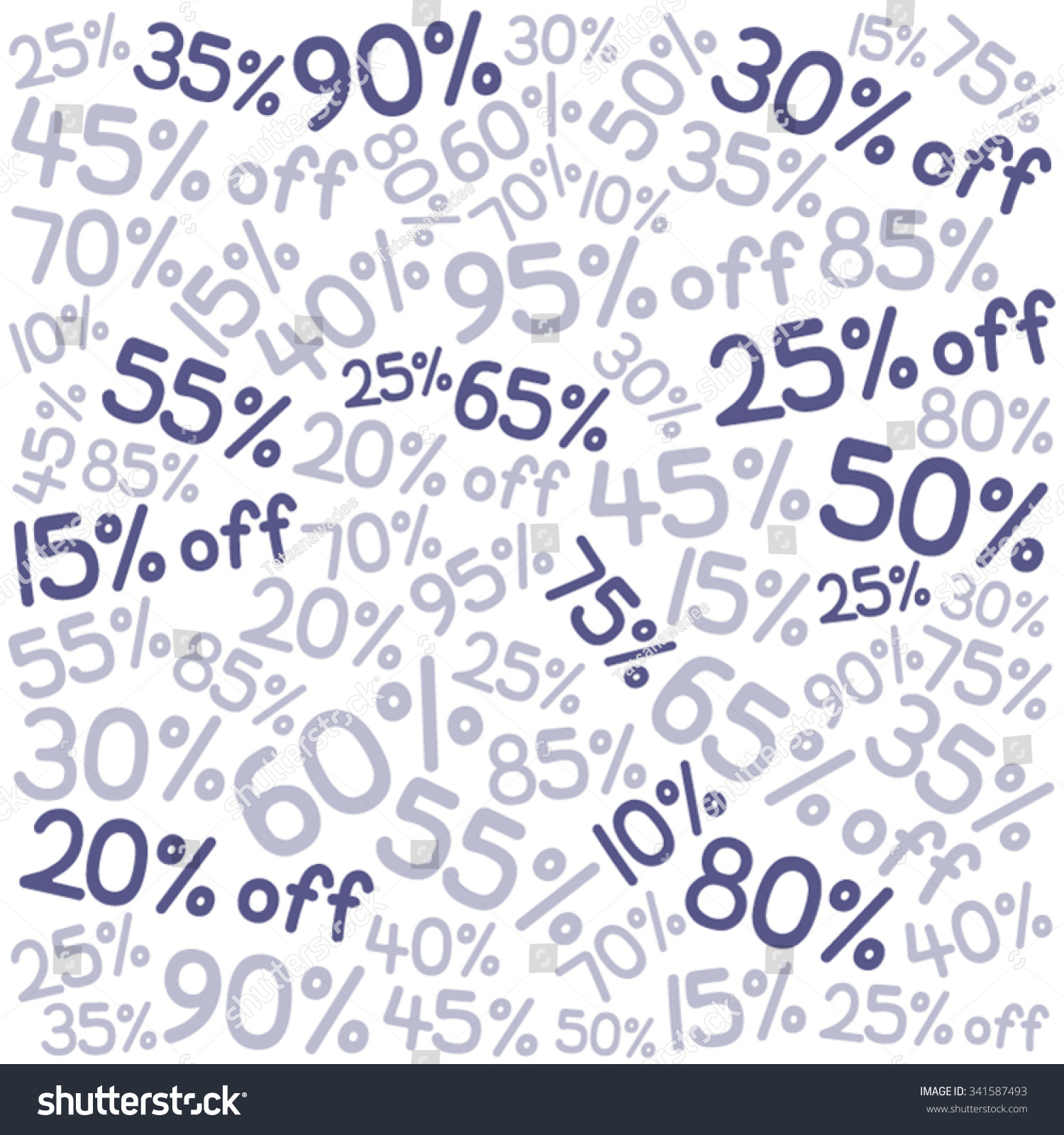 Number Wallpaper Purple Theme Clearance Sale Stock Vector