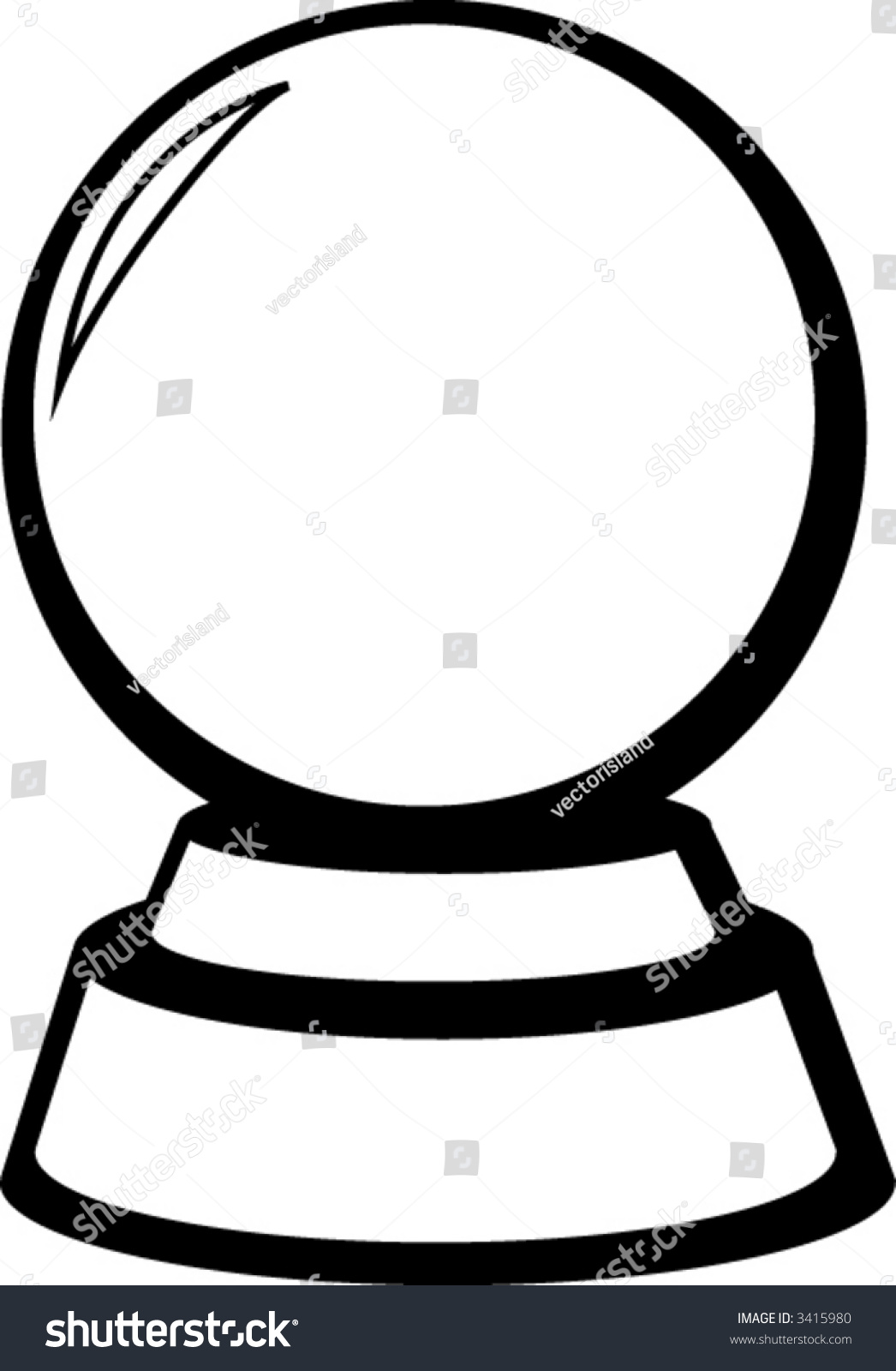 crystal ball stock vector 3415980 shutterstock rh shutterstock com crystal ball clip art free crystal ball clipart images