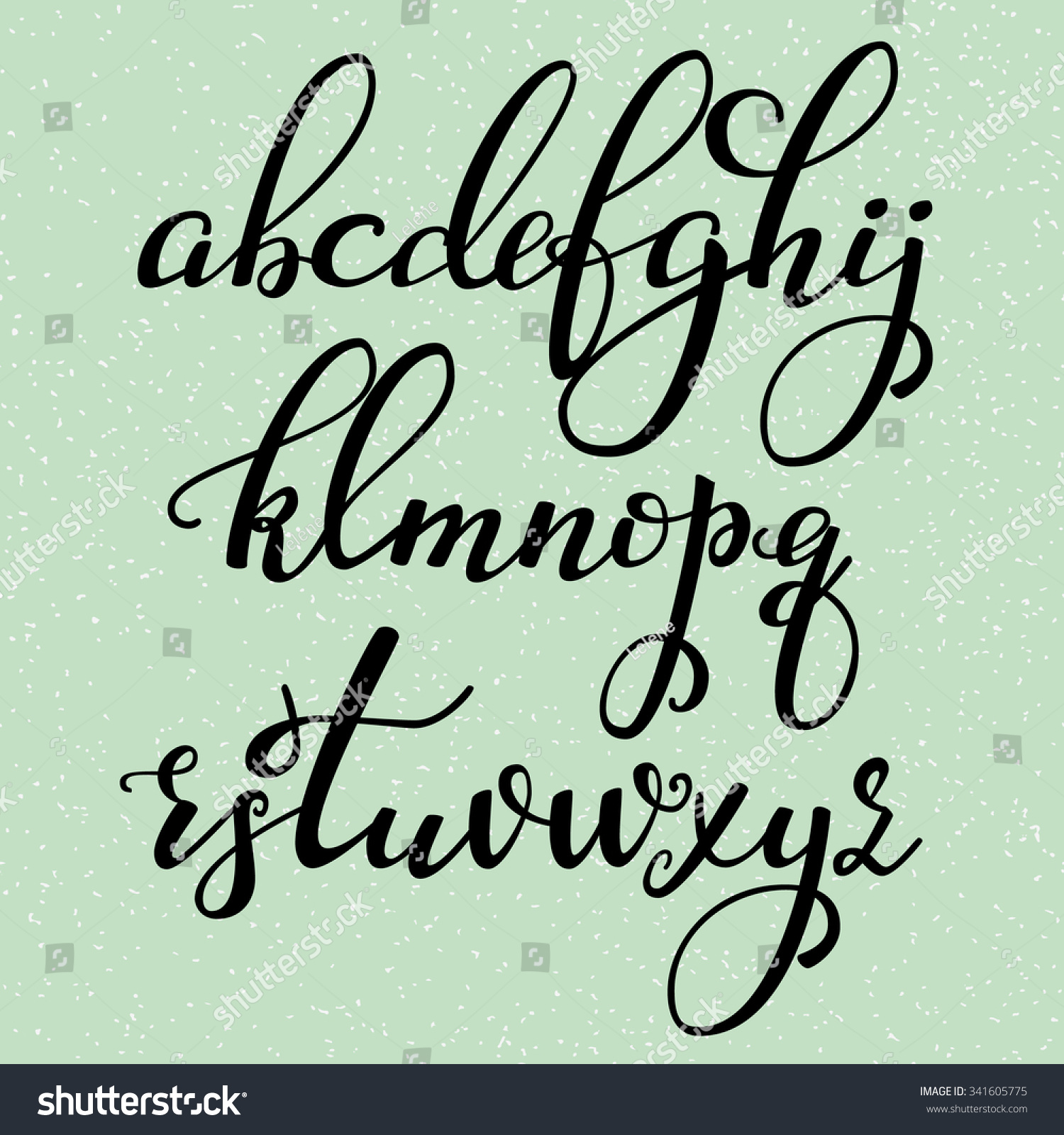 Handwritten brush style modern calligraphy images