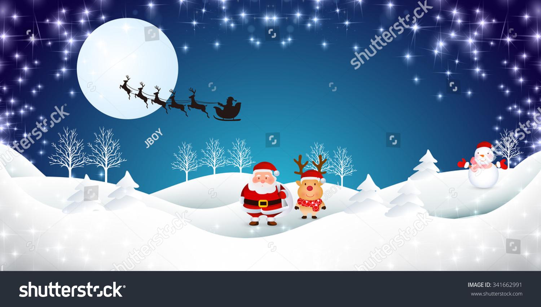 snow christmas santa background stock vector royalty free