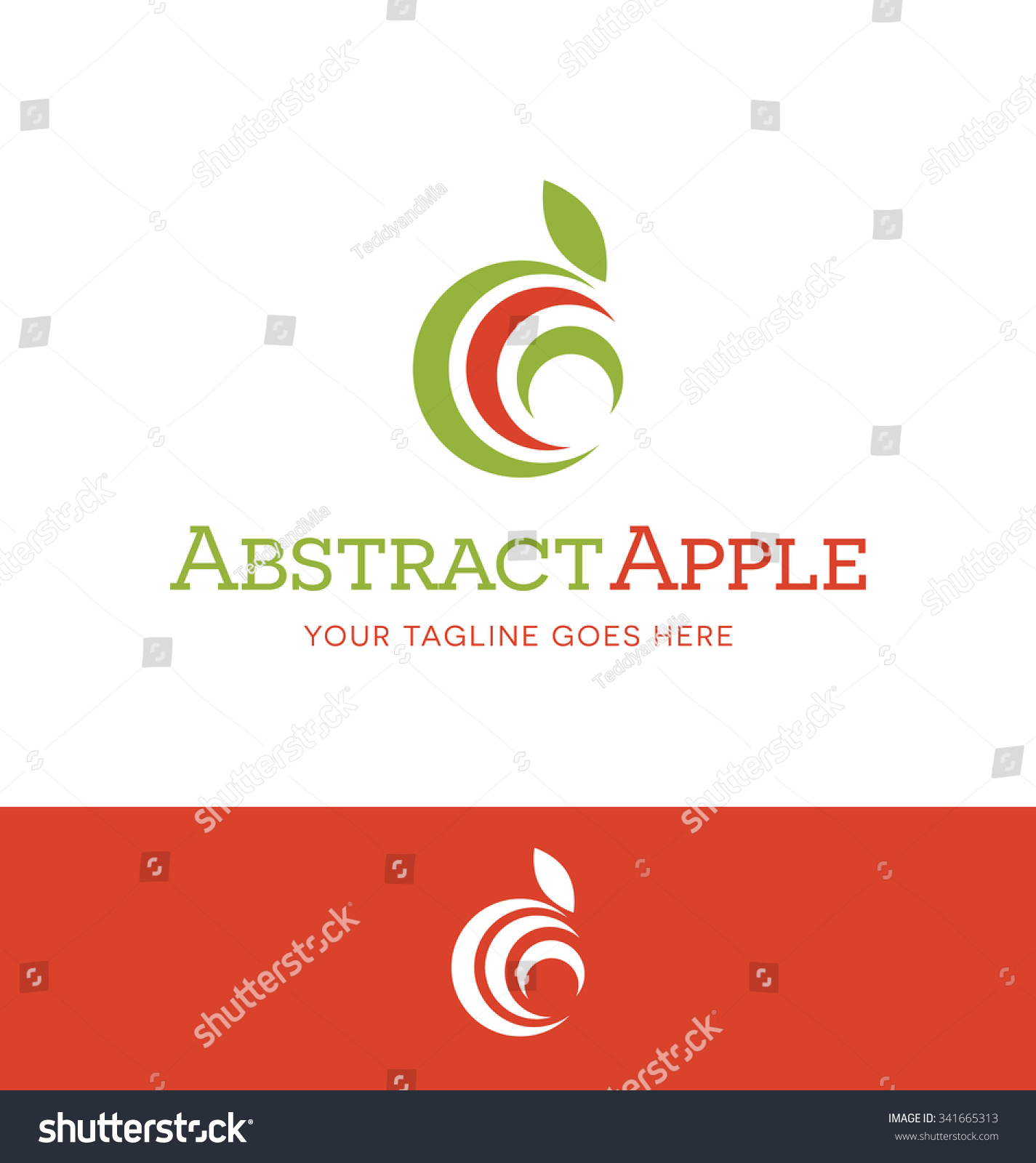 Abstract Apple Logo For Food Or Nutrition Related Business ...