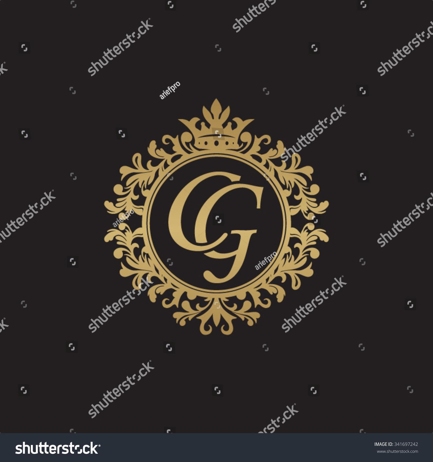 CG Initial Luxury Ornament Monogram Logo Vector de stock (libre de ...