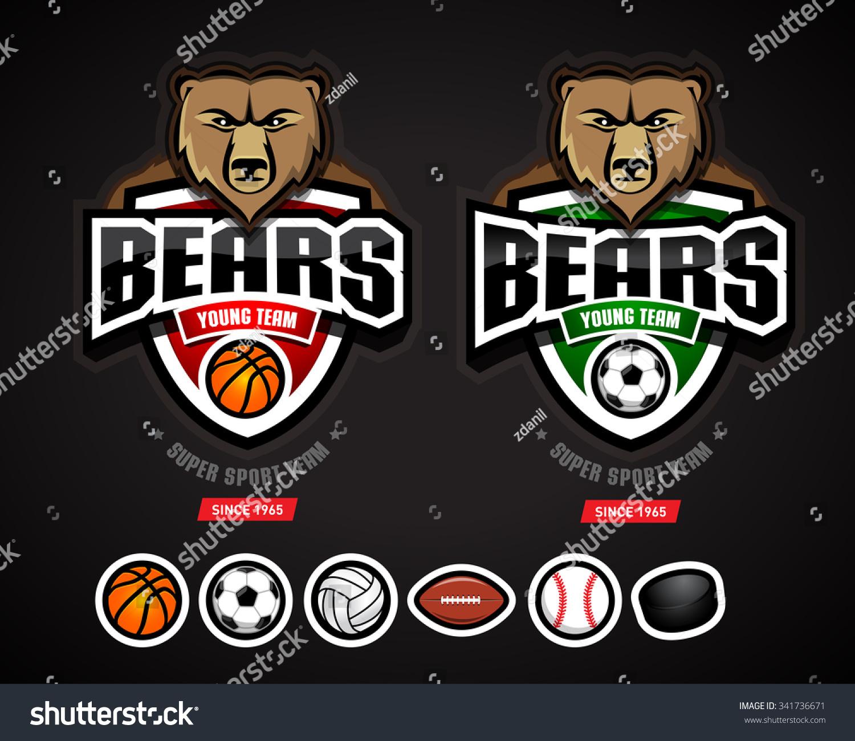 Bears Sport Logo Team Templatelogotype Basketball Vectores ...