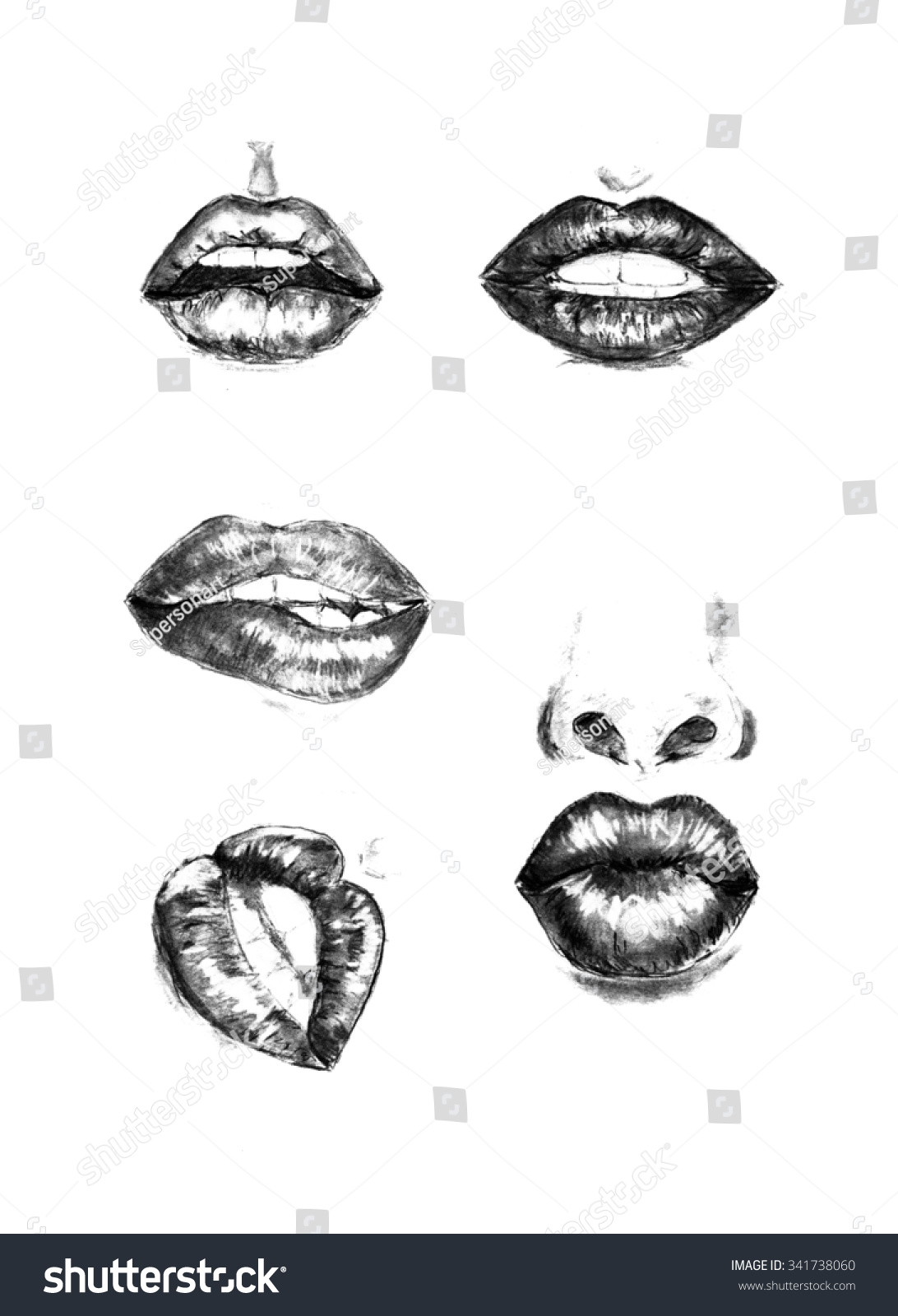 how to draw realistic female lips