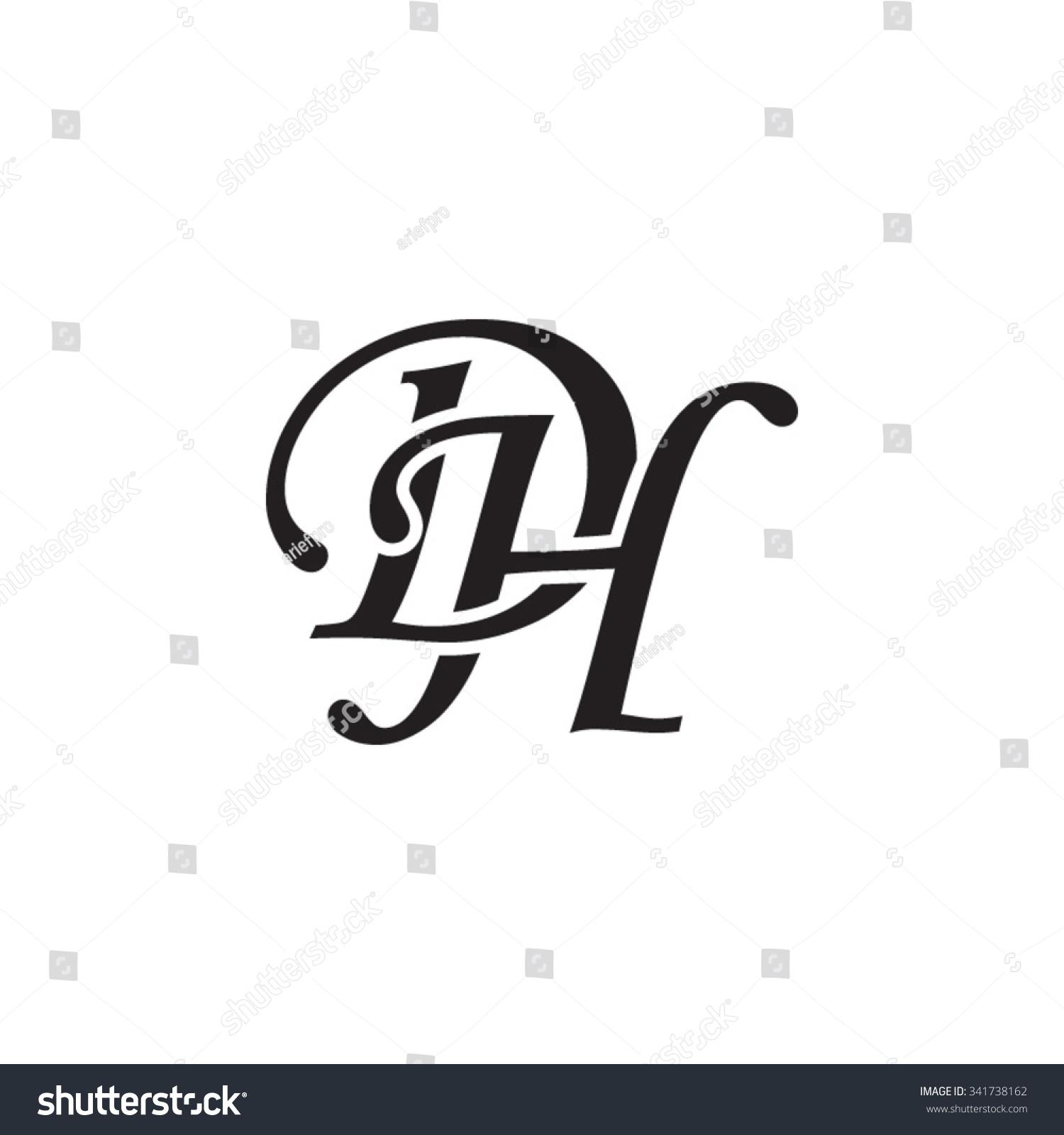 Dh Initial Monogram Logo Stock Vector Illustration